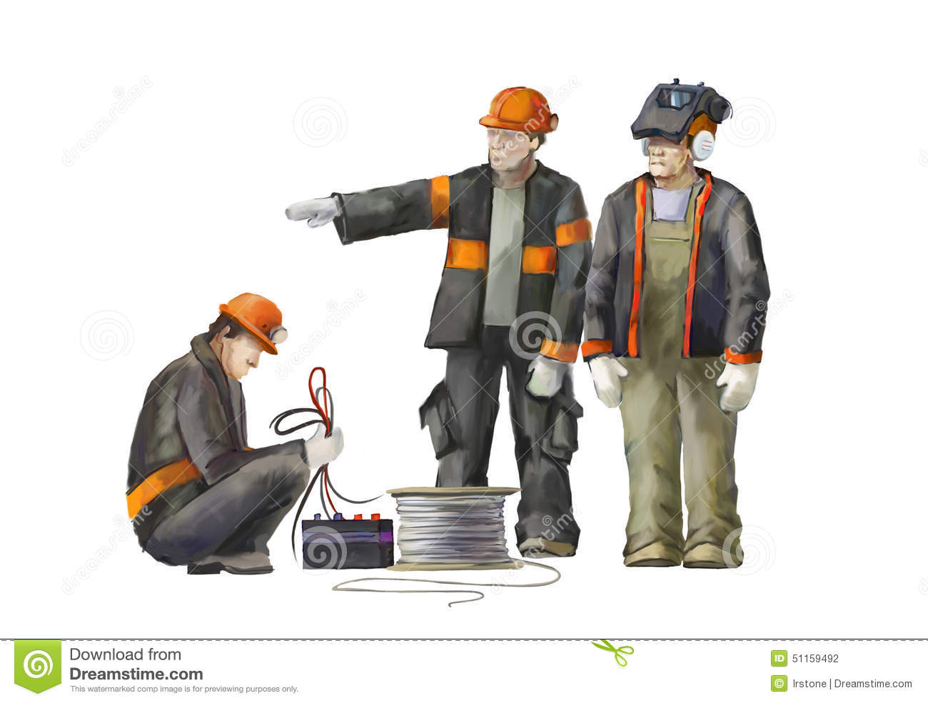 Welder, Electrician, Project Manager. Builders Working On ...