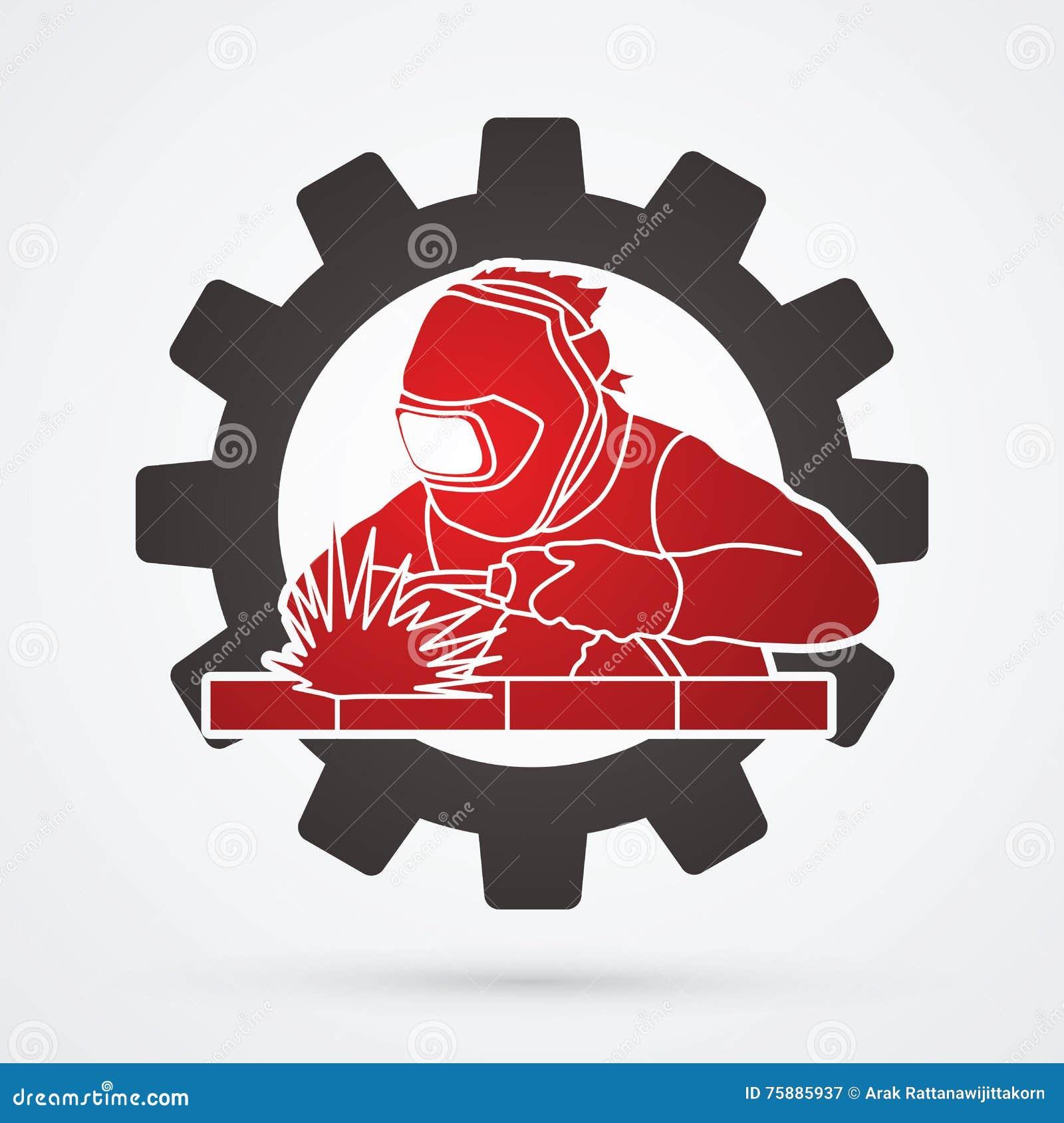 Welder stock vector. Illustration of logo, crafts, male ...