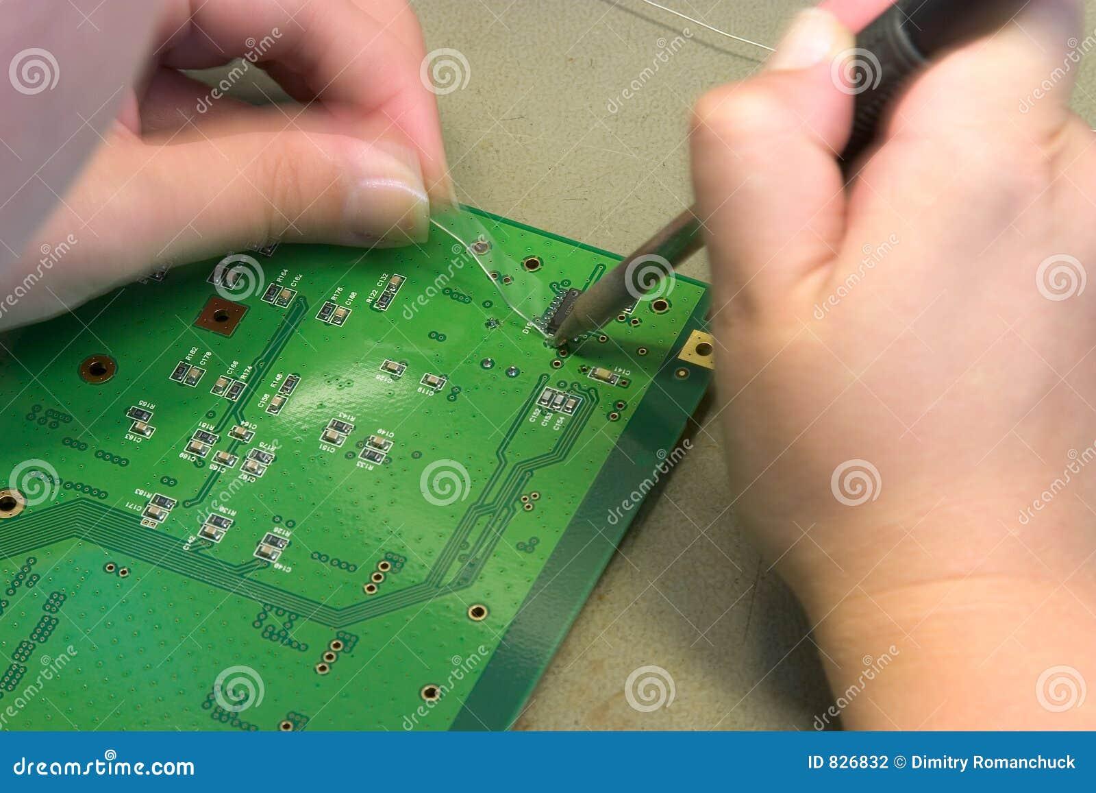 Welding computer parts