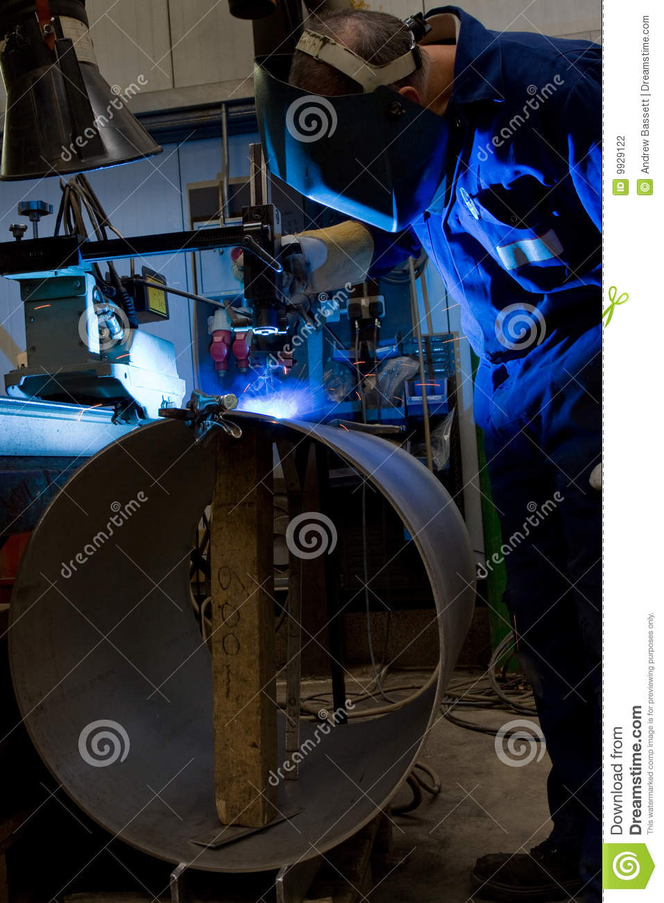 Welding Machine Operator Stock Photo Image Of Spark Operator 9929122
