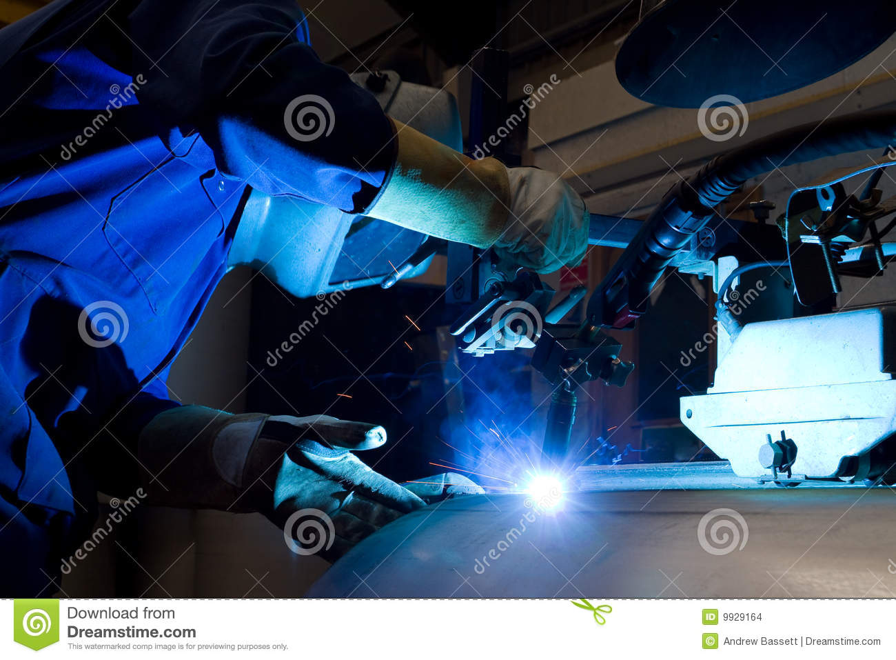Welding Machine Operator Stock Photo Image Of Fabrication 9929164