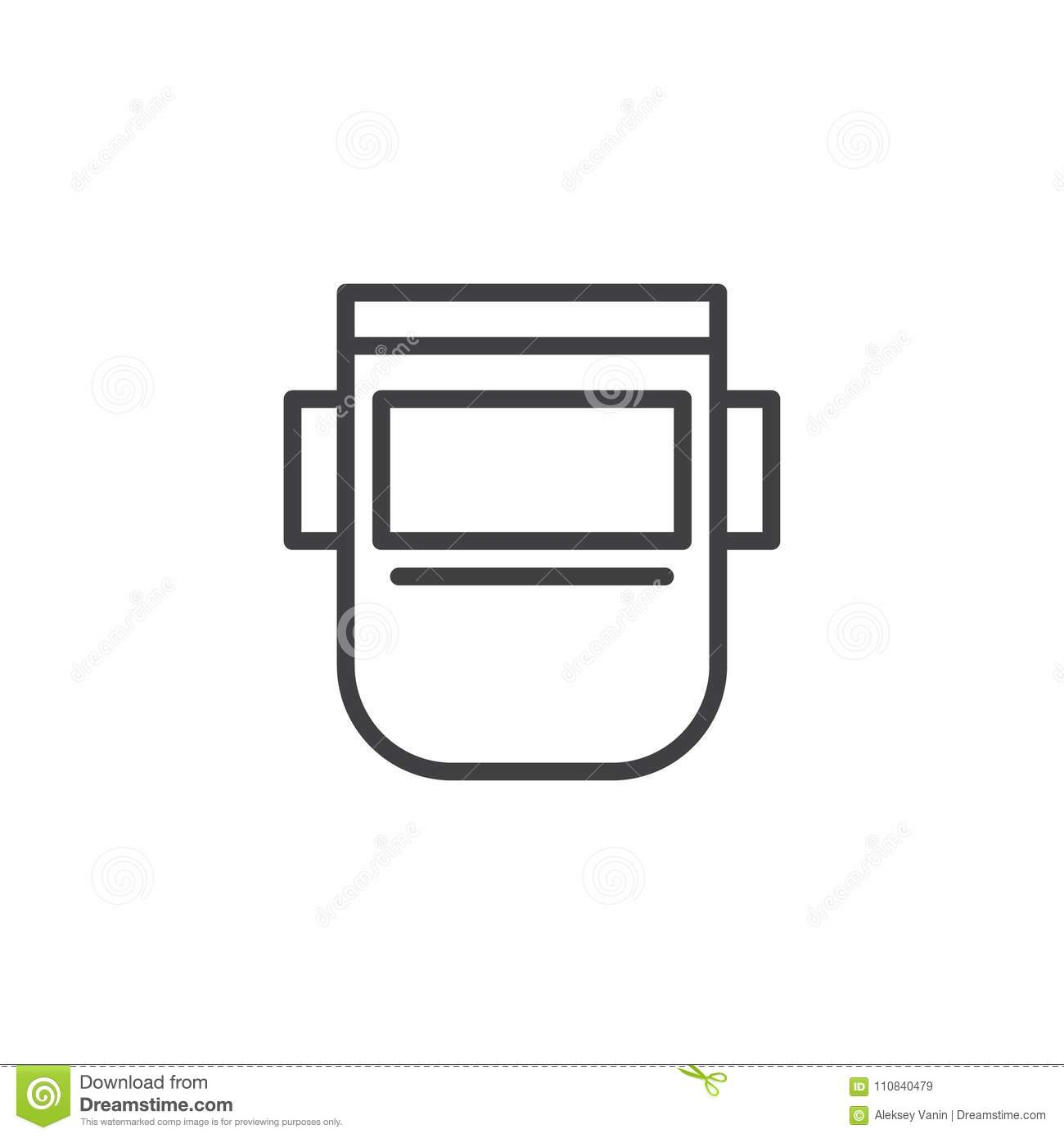 Welding Mask Diagram Wiring Libraries Helmet Outline Icon Stock Vector Illustration Of Safetywelding