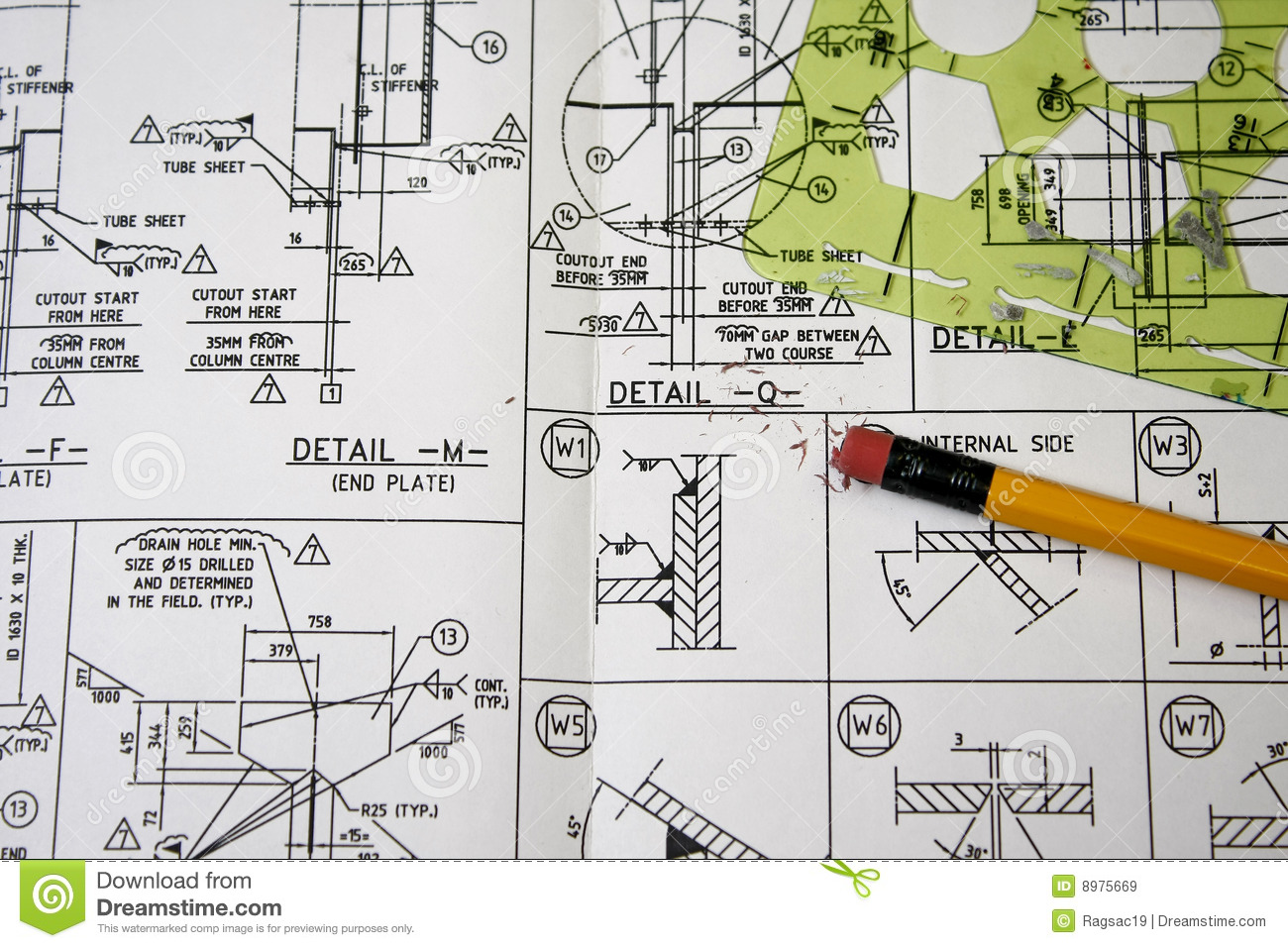 Welding Symbols Stock Image Image Of Print Sketch Design 8975669