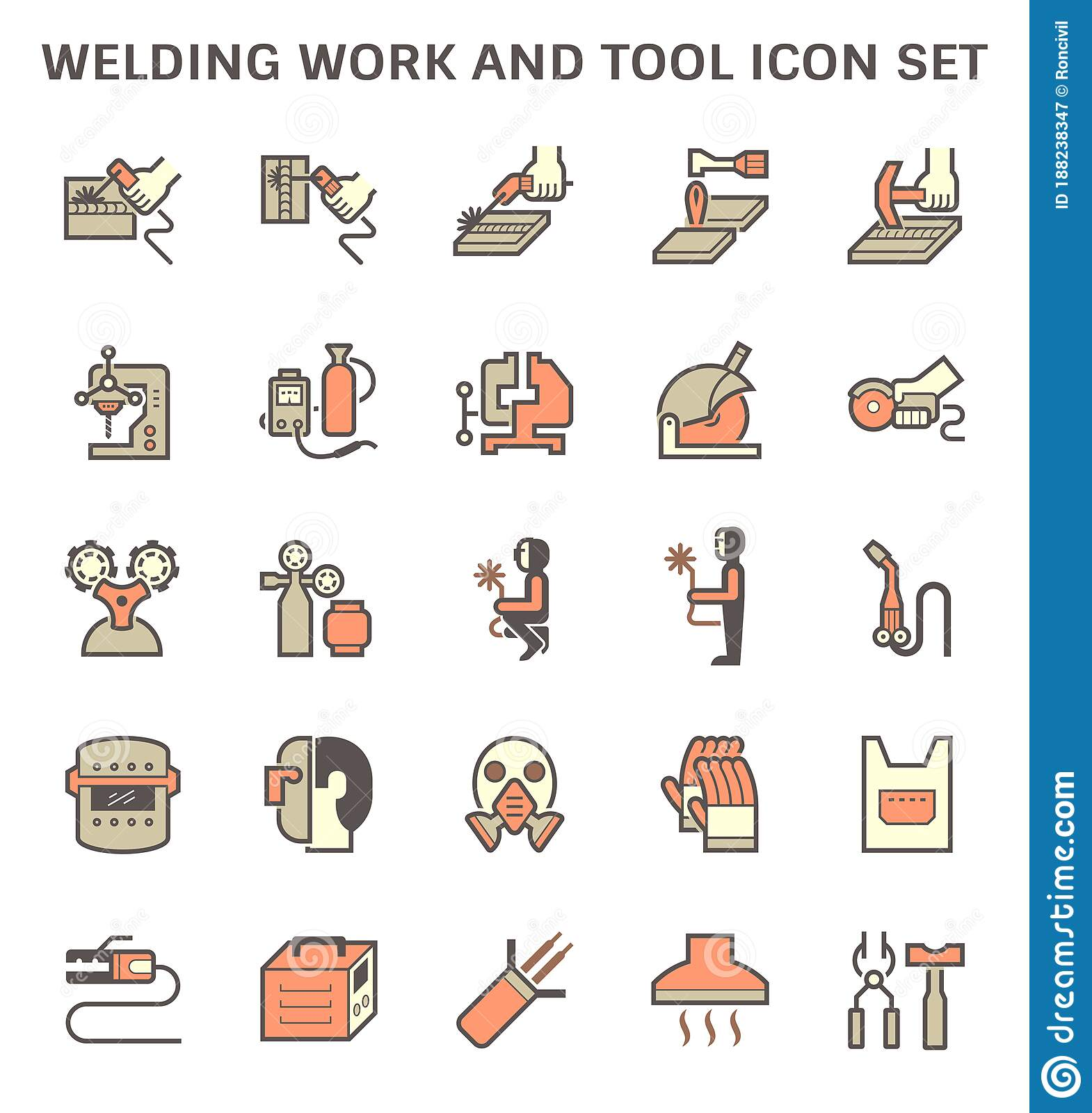 Welding Work And Tool Icon Stock Vector Illustration Of Hood 188238347