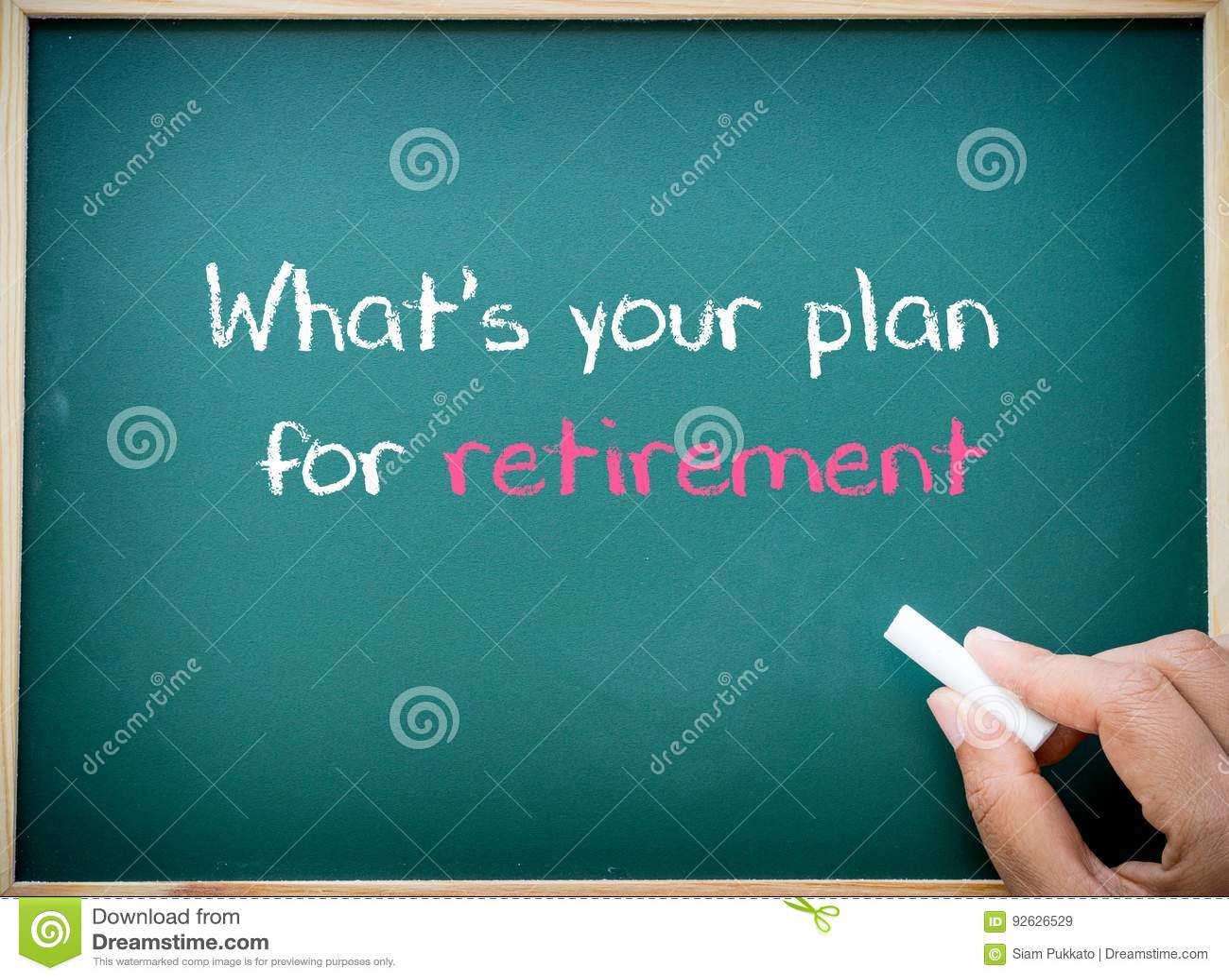 Welke ` s uw die plan voor pensionering op bord wordt geschreven