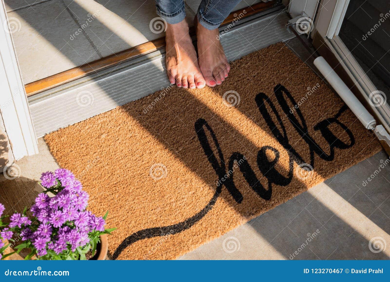 Welkom mat voor nieuw huis