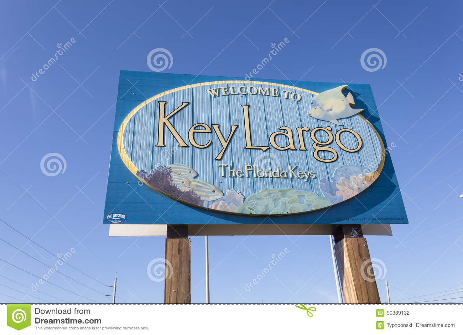 Welkom om Largo teken, Florida te sluiten