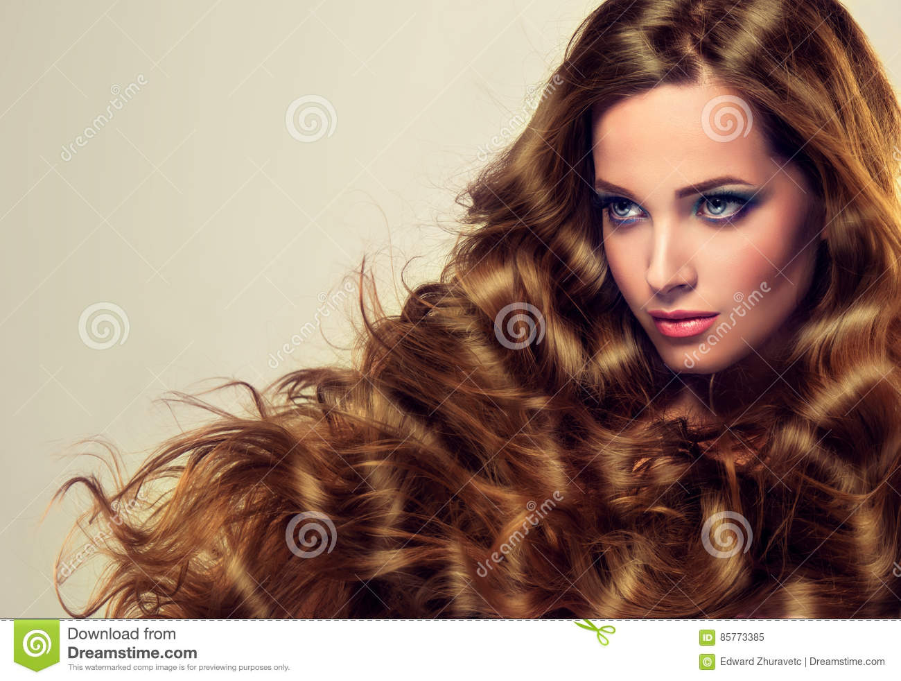 Well cared, dense and strong womans hair.