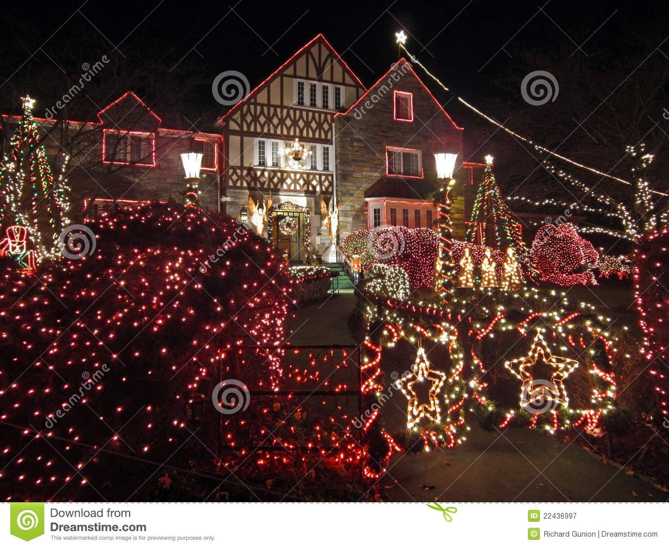 well decorated christmas home royalty free stock a well decorated home in fisherville ky give you peace in