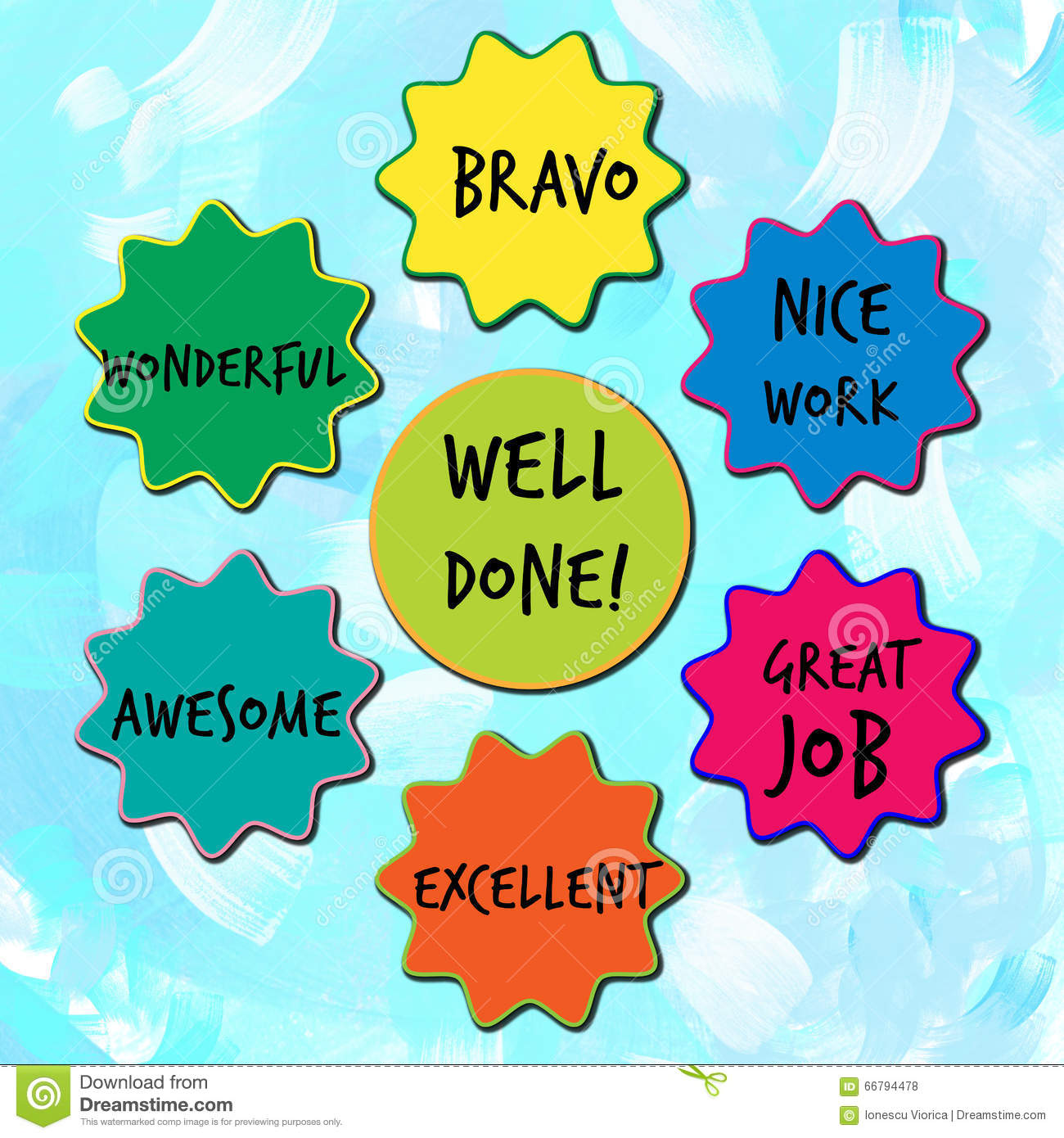 Appreciation Quotes For Good Work Done: Well Done Appreciation Messages For Children Stock