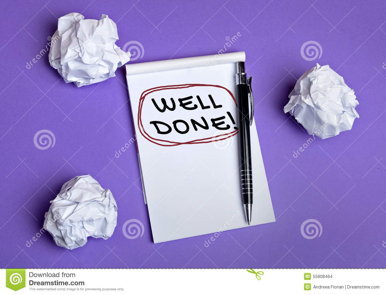 Well done word stock photo image 55808464
