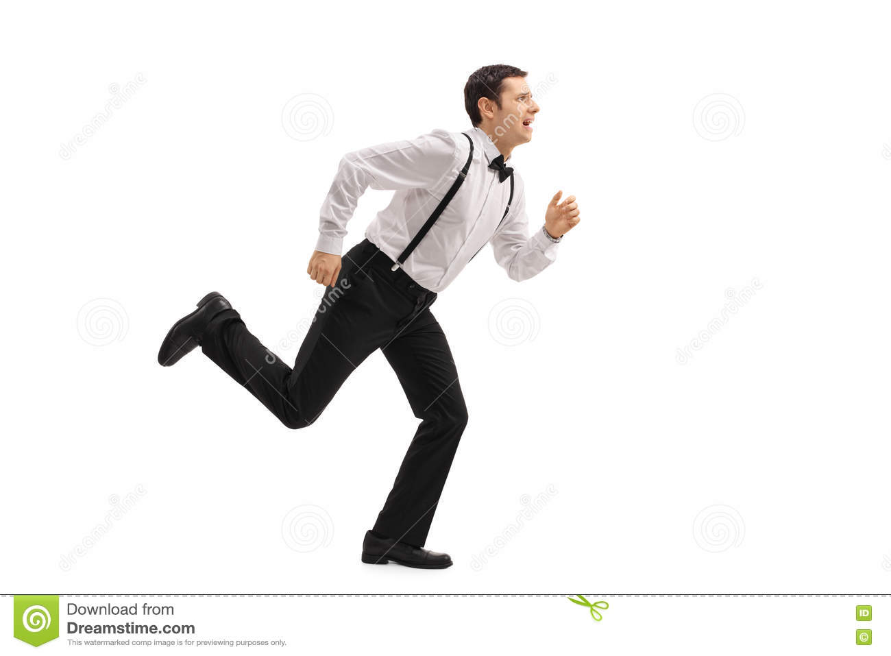 Well-dressed man running stock image. Image of length ...