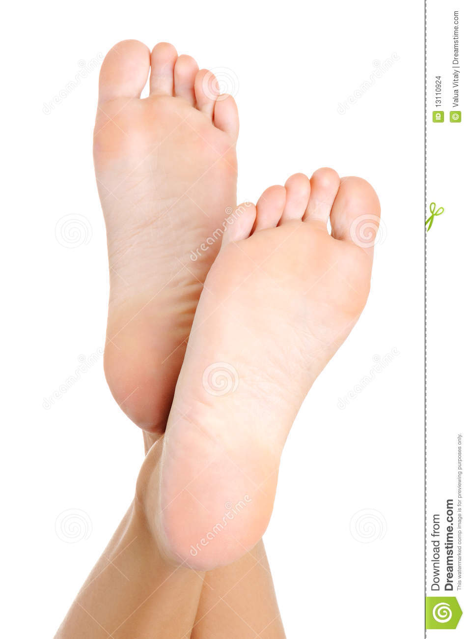 well-groomed female a foot stock photo. image of wellness - 13110924