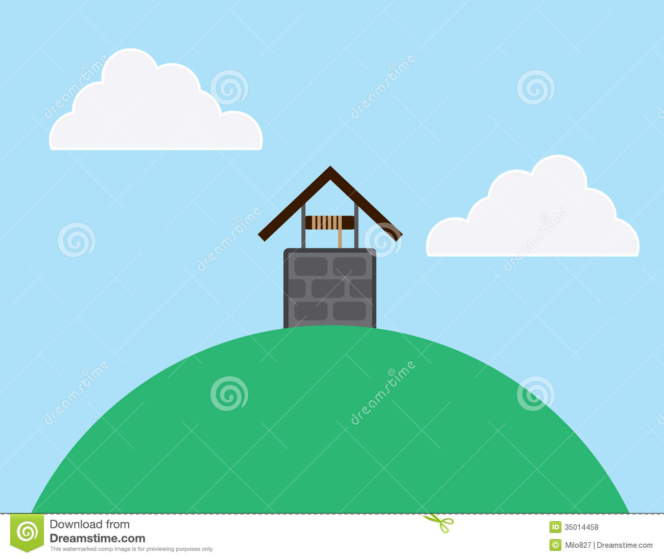 Well Hill stock vector. Image of hill, jill, jack ...