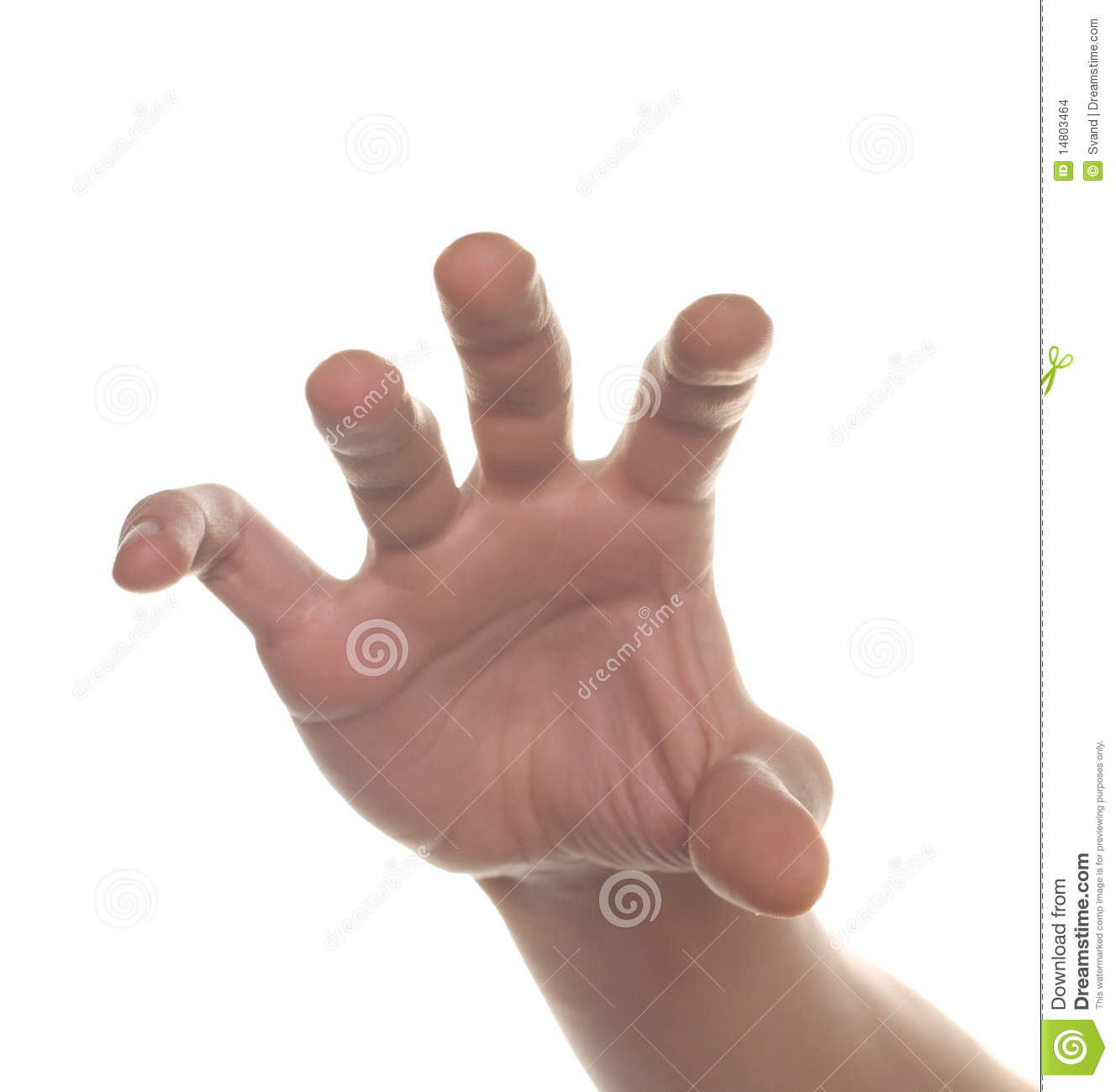 Well shaped men hand reaching for something