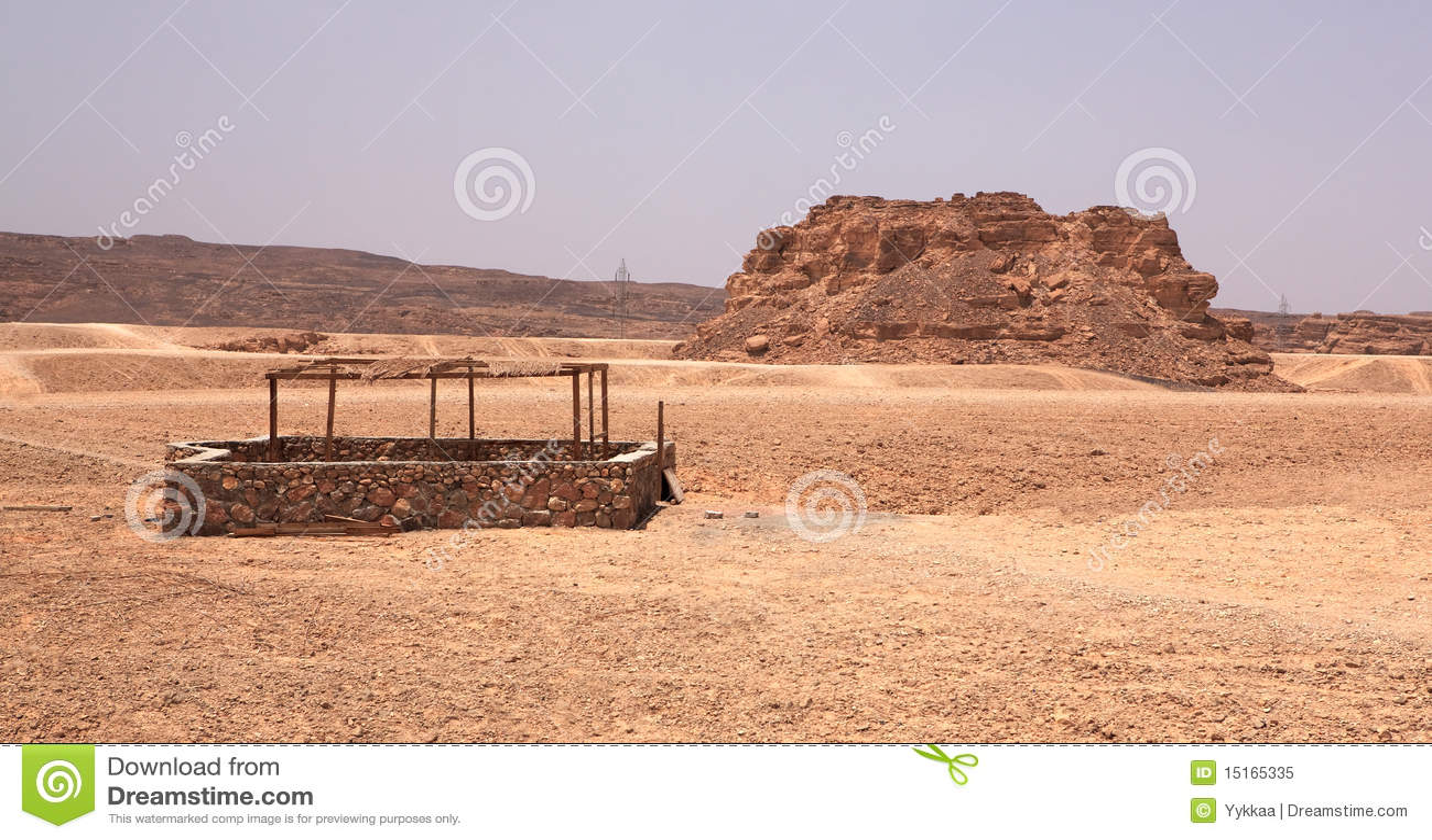 Well in the stone desert