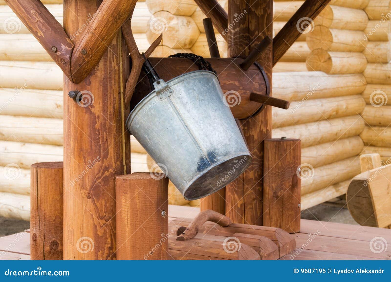 Well trä för hink