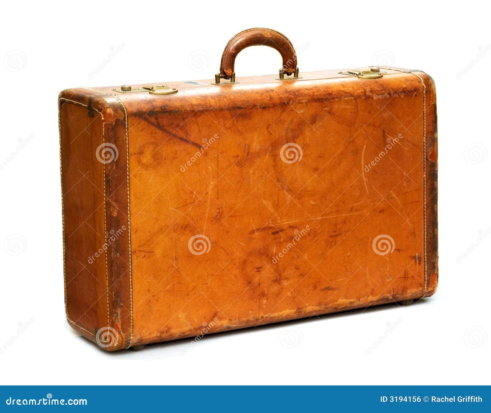 Well-Traveled Vintage Suitcase Royalty Free Stock Image - Image ...
