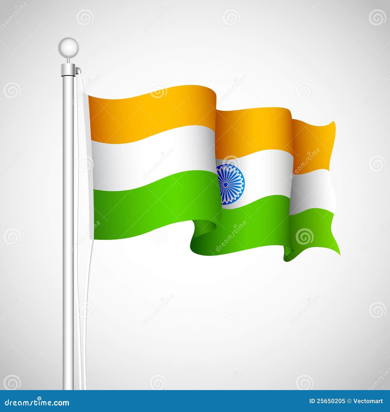 Wellenartig bewegende indische Markierungsfahne