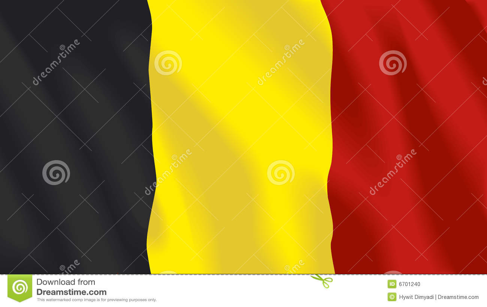 Wellenartig bewegende Markierungsfahne von Belgien