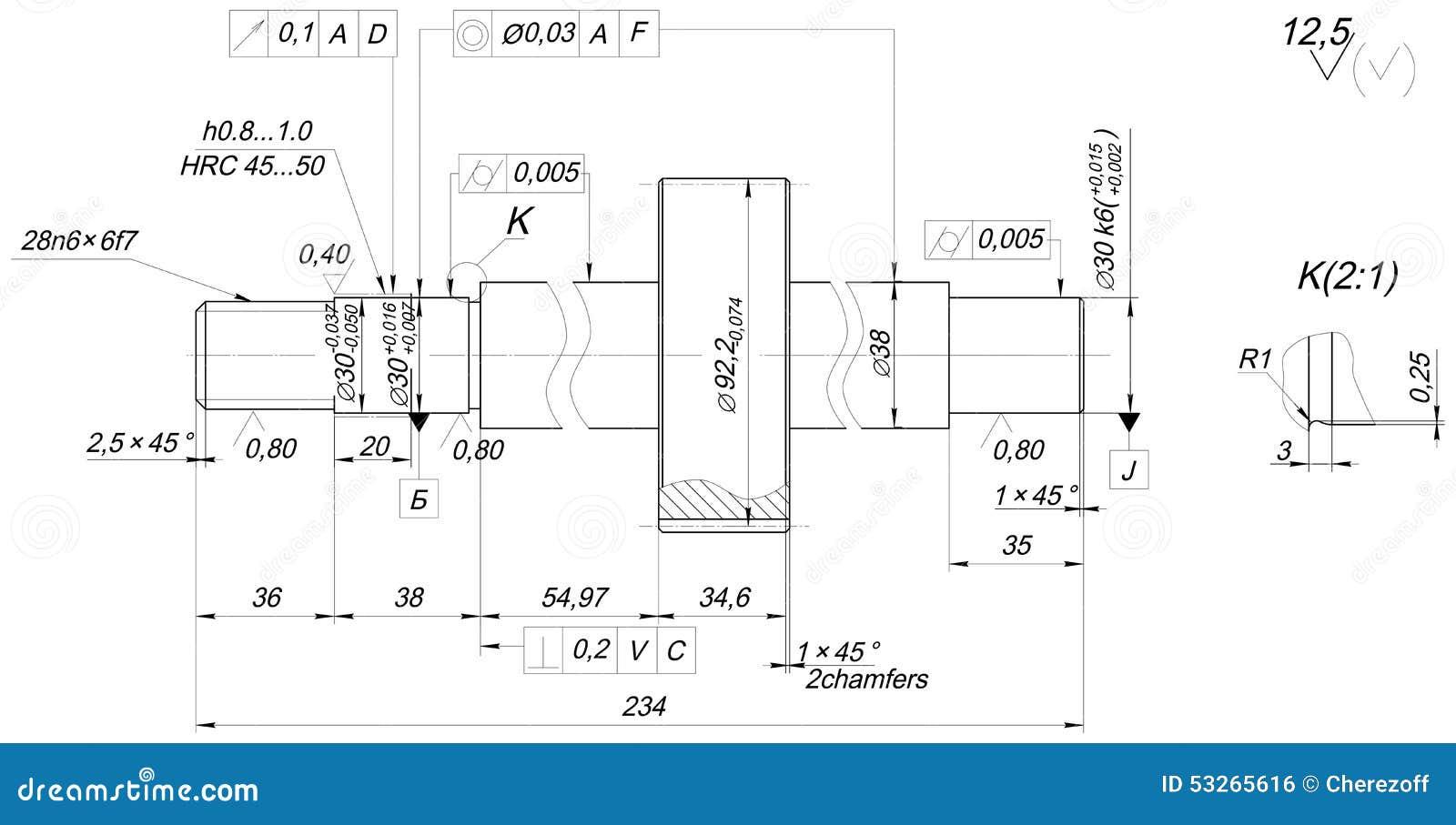 wellenskizze mit abschr gungen technische. Black Bedroom Furniture Sets. Home Design Ideas