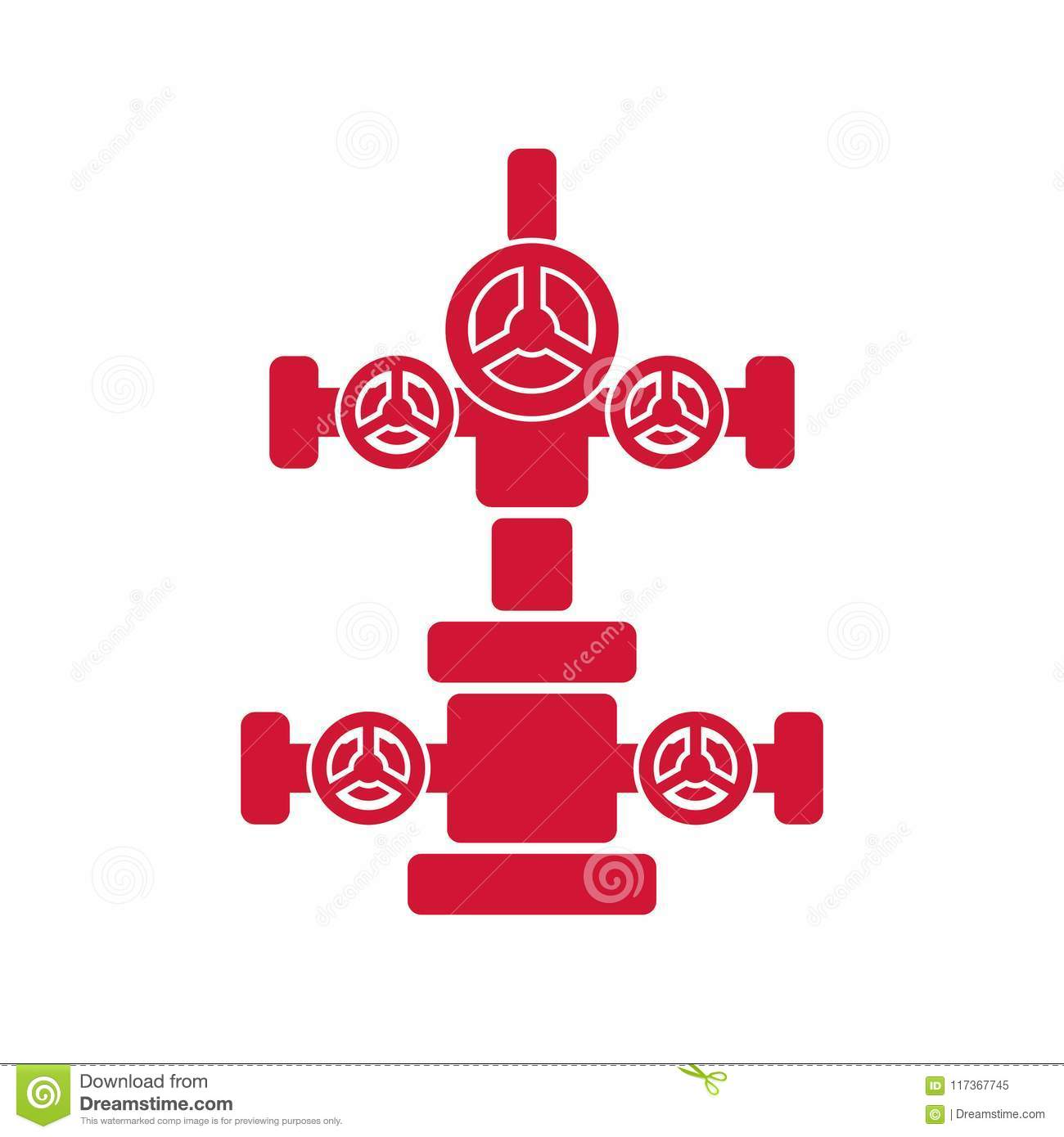 Wellhead Christmas Tree Diagram: Oil Wellhead Stock Illustrations