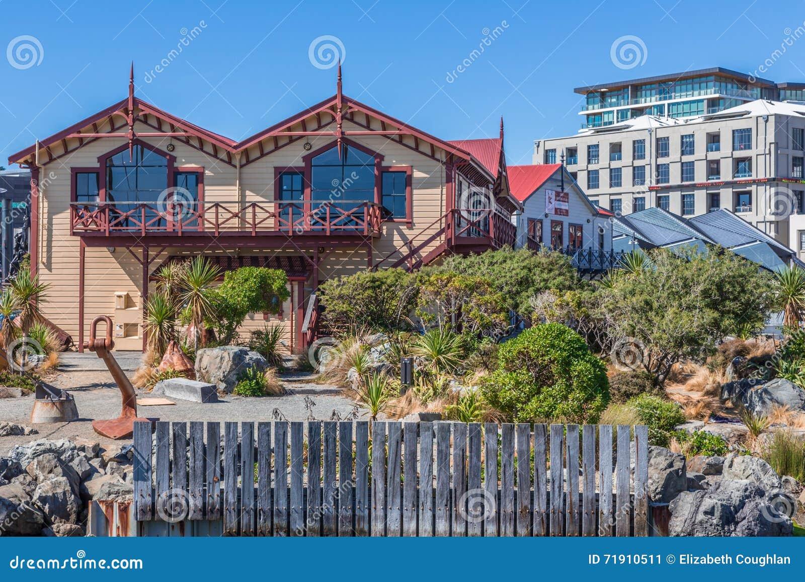 Wellington, Nieuw Zeeland, 11 Februari 2016: Historische bootloodsen