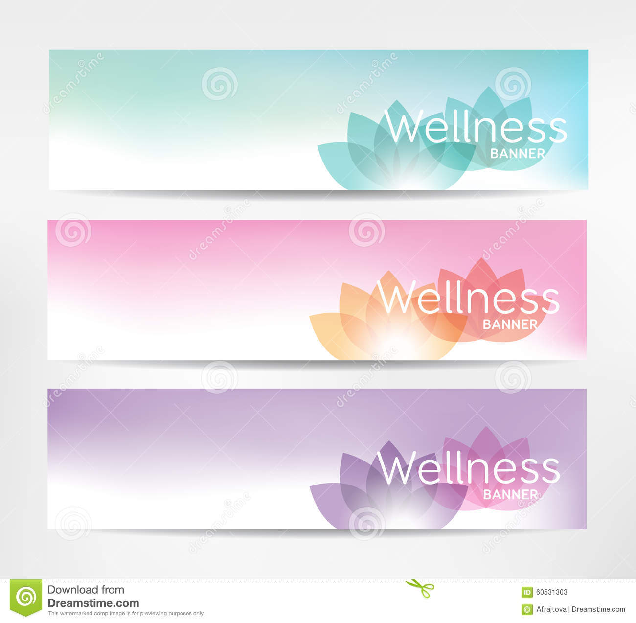 Wellness Banners Stock Vector. Illustration Of Exercise