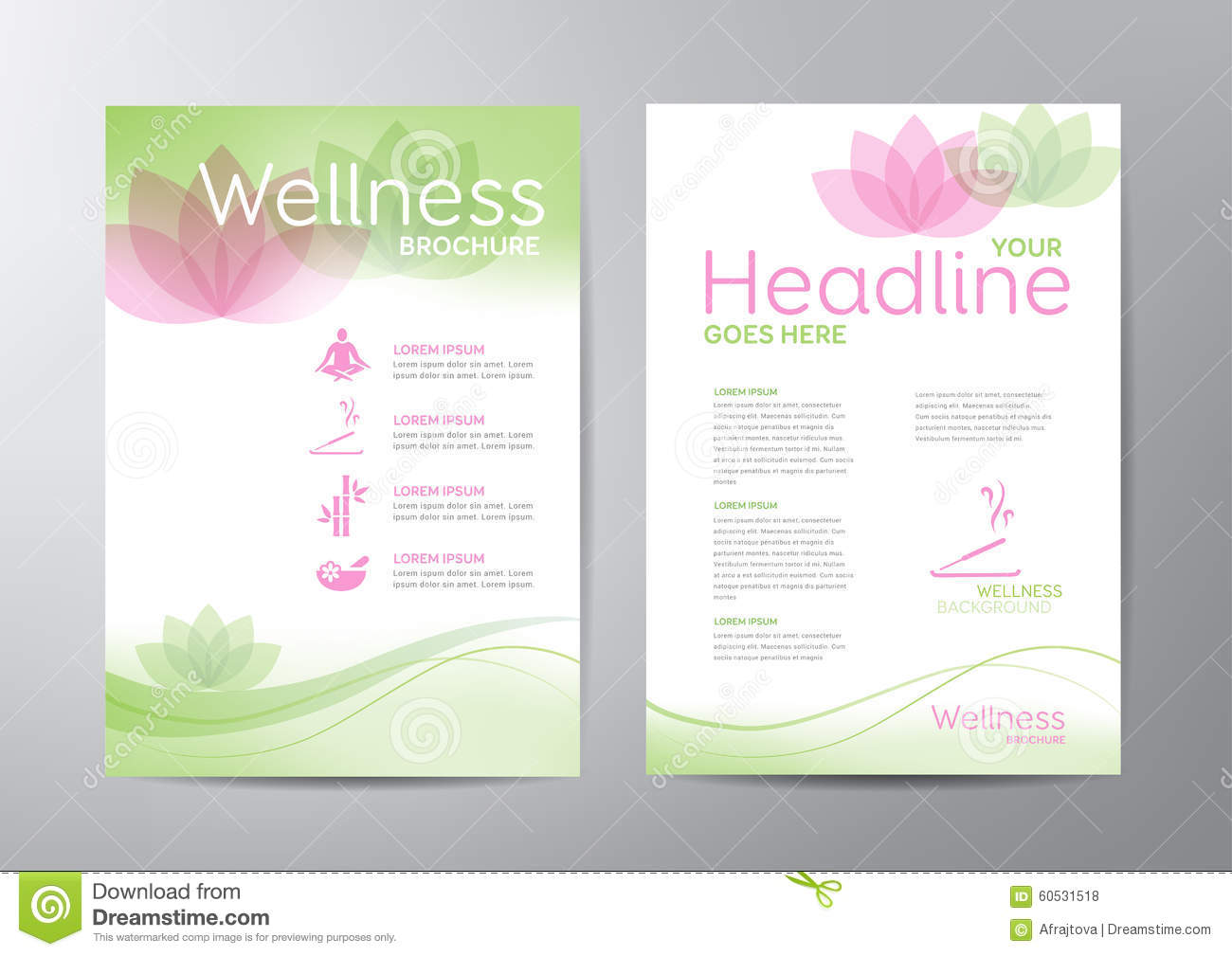Wellness Brochure Stock Vector - Image: 60531518