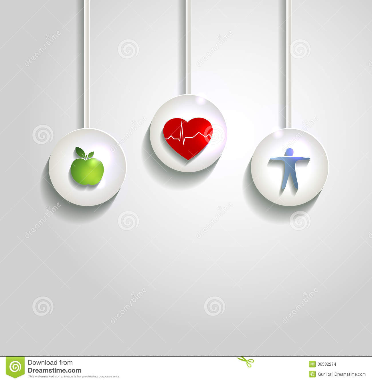 Wellness background  Wellness Concept Background, Heart Health Care Stock Vector ...