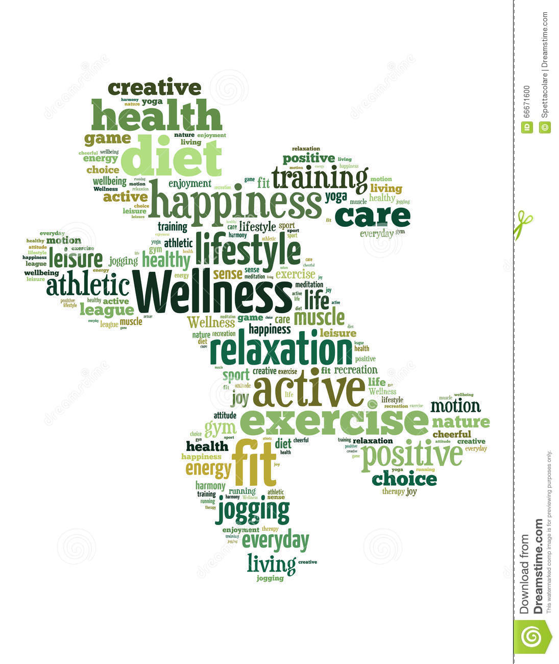 Workout Words: Wellness Exercise, Word Cloud Concept 2 Stock Illustration