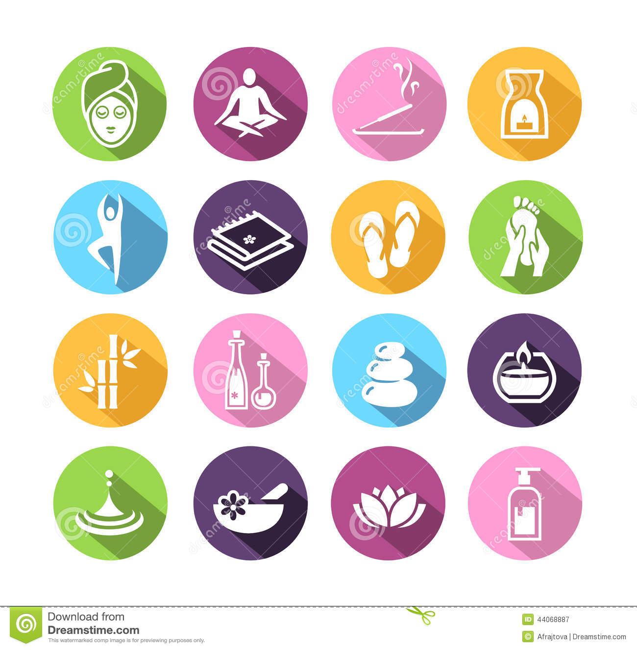 Wellness icon  Wellness Icons In Flat Design Style Stock Vector - Illustration of ...