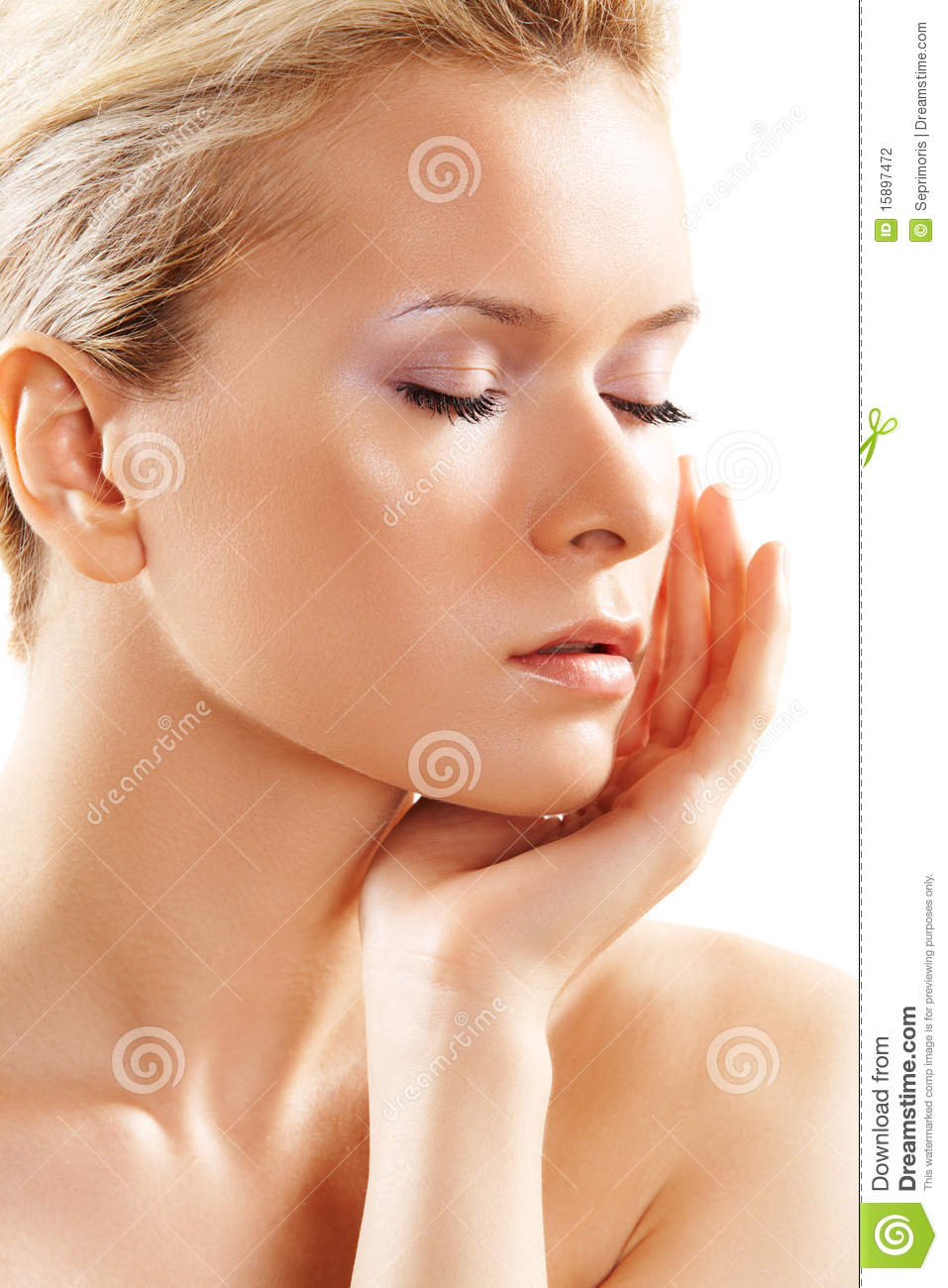 Wellness Amp Spa Sensual Model With Clean Skin Stock Photography Image 15897472