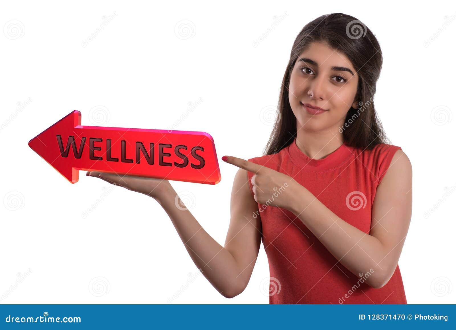 Wellness strzałkowaty sztandar na ręce