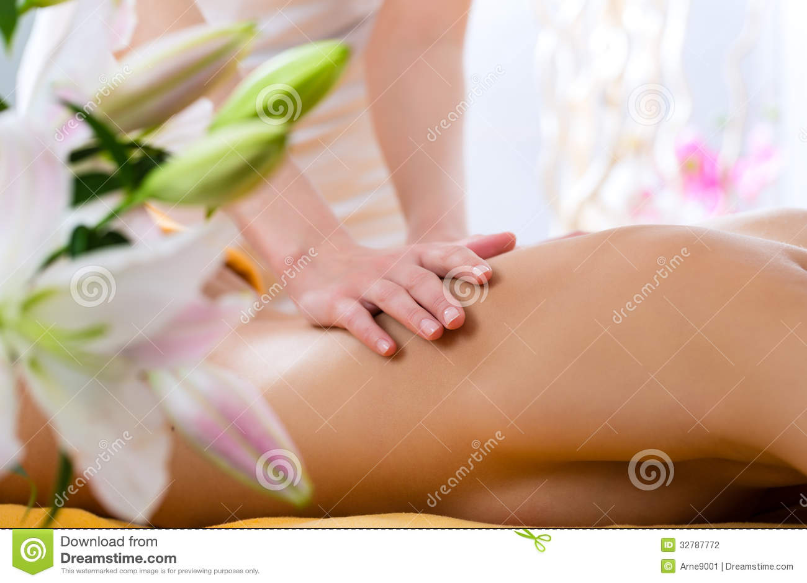 Wellness - woman getting body massage in Spa