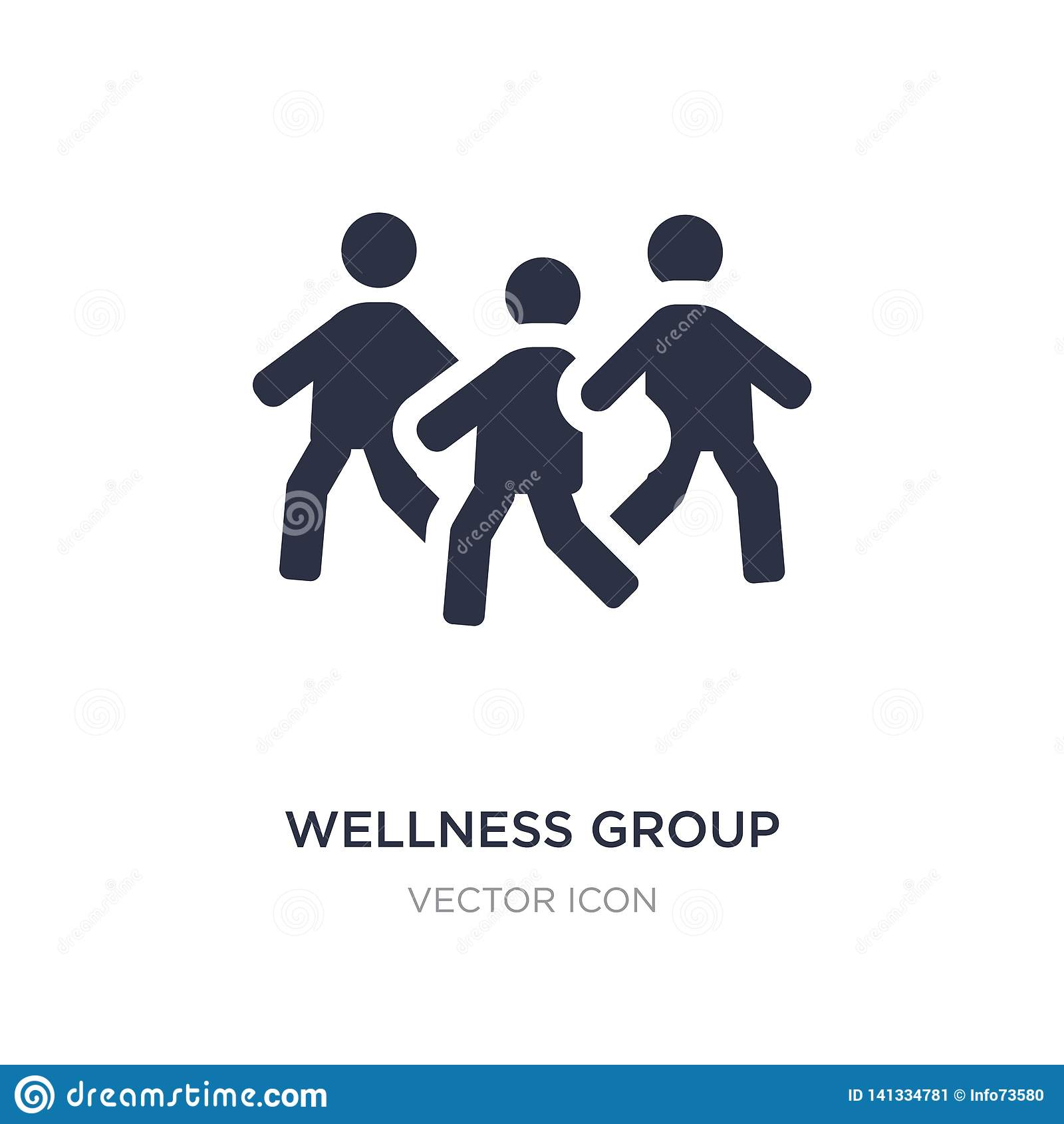 Wellnessgruppsymbol på vit bakgrund Enkel beståndsdelillustration från folkbegrepp