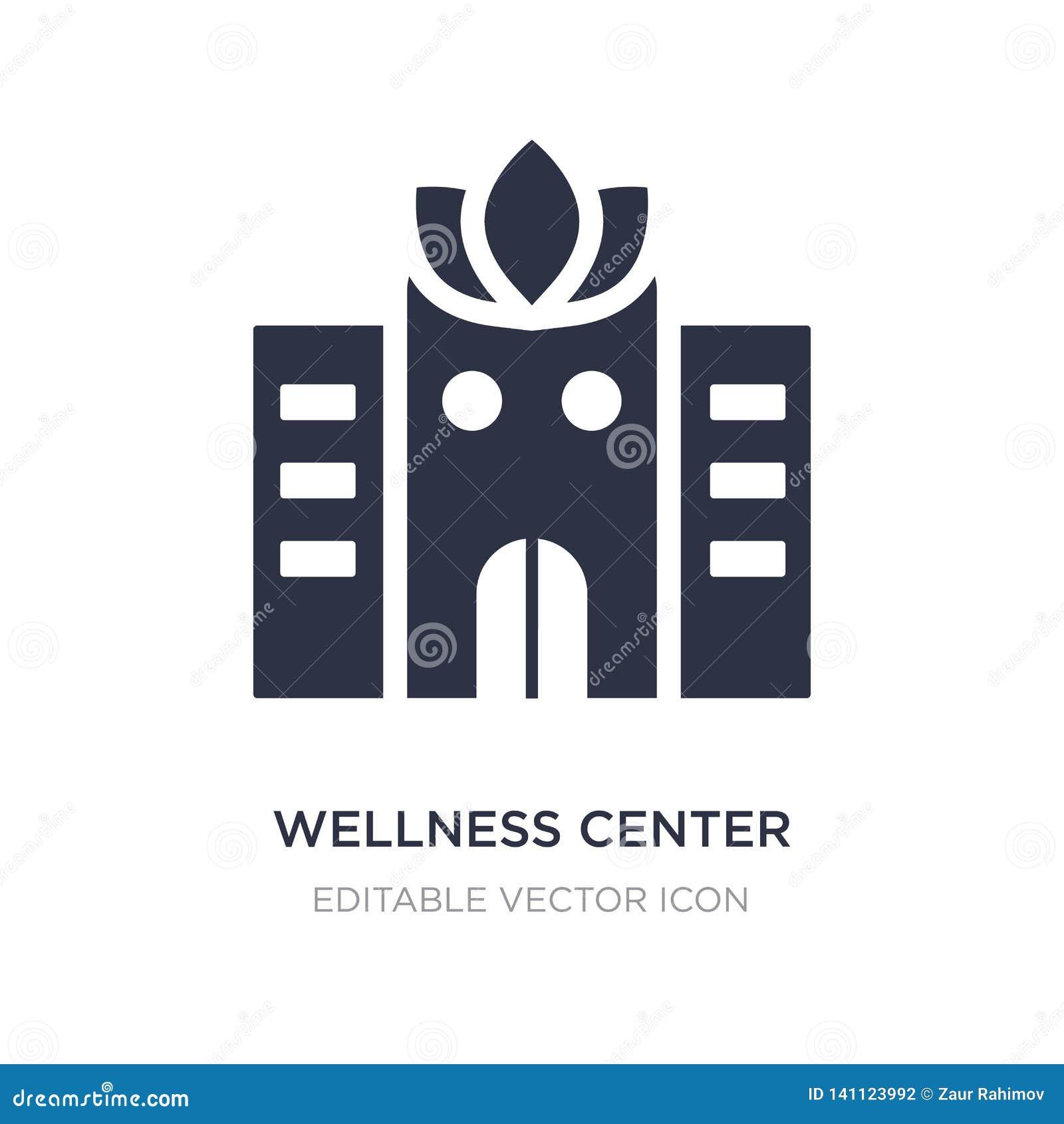 Wellnessmittsymbol på vit bakgrund Enkel beståndsdelillustration från byggnadsbegrepp