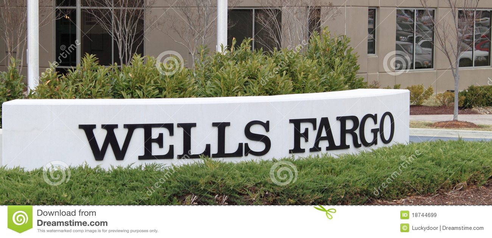 wells fargo bank sign editorial stock image image 18744699. Black Bedroom Furniture Sets. Home Design Ideas