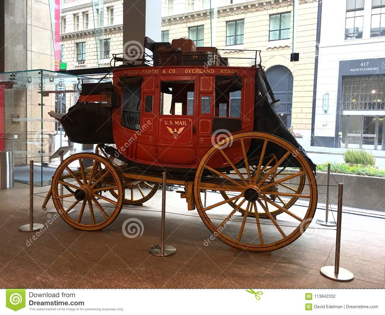 a wells fargo u.s. mail concord coach. editorial photography - image