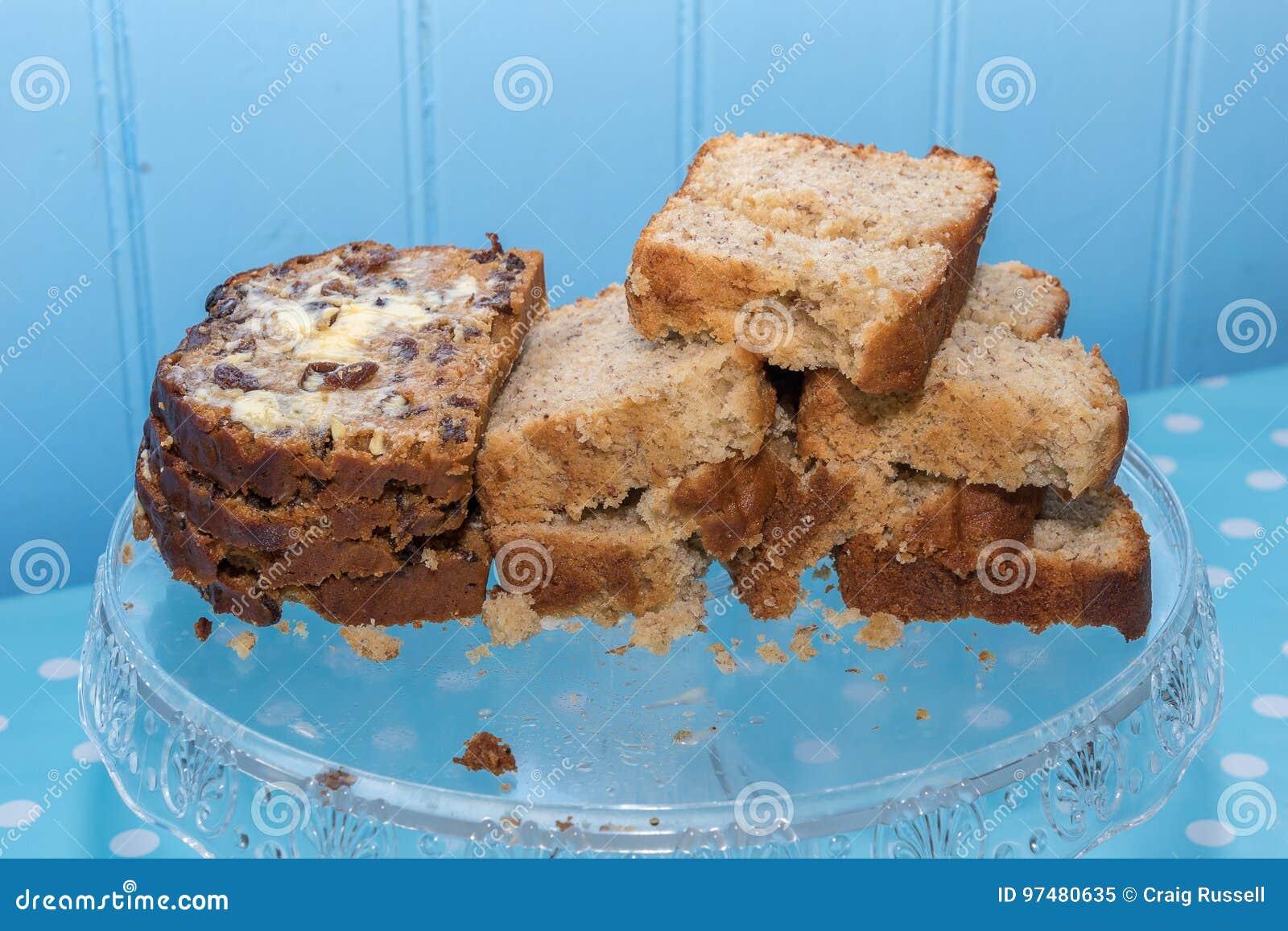 Welsh Bara Brith And Banana Cake Stock Image Image Of Loaf Sultana 97480635