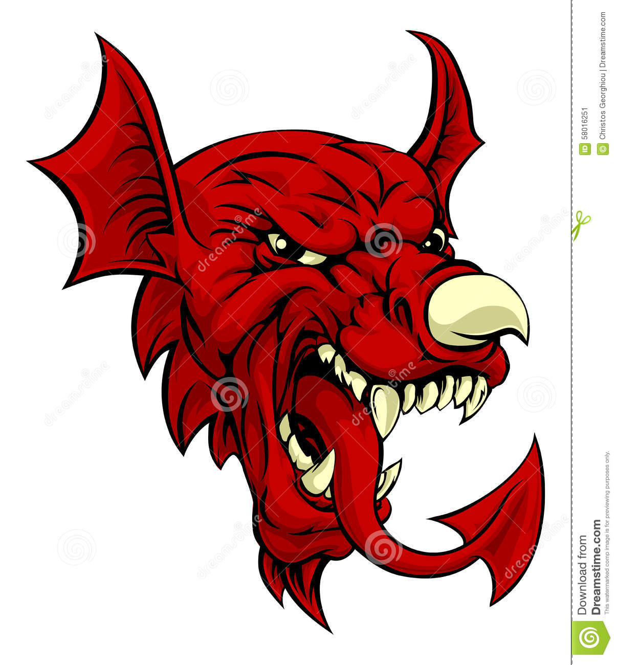 Welsh Dragon Stock Vector - Image: 58016251