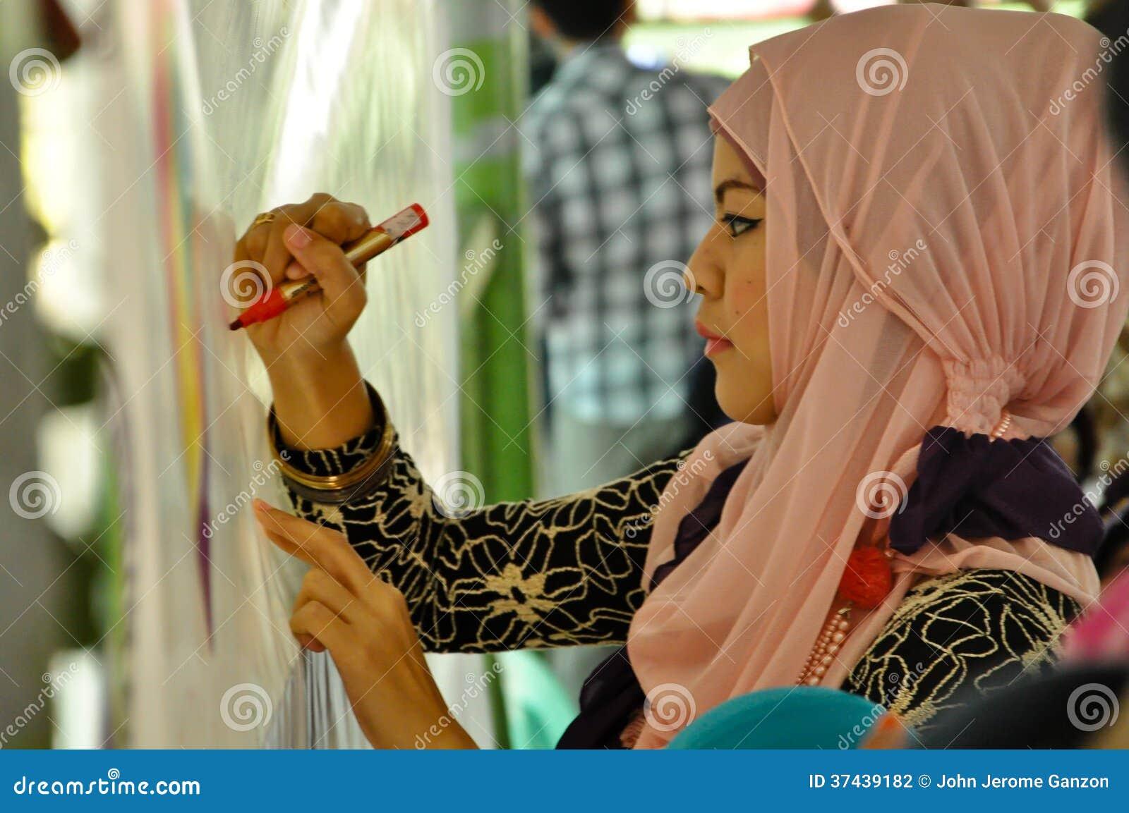 Welt-Hijab-Tag in Manila