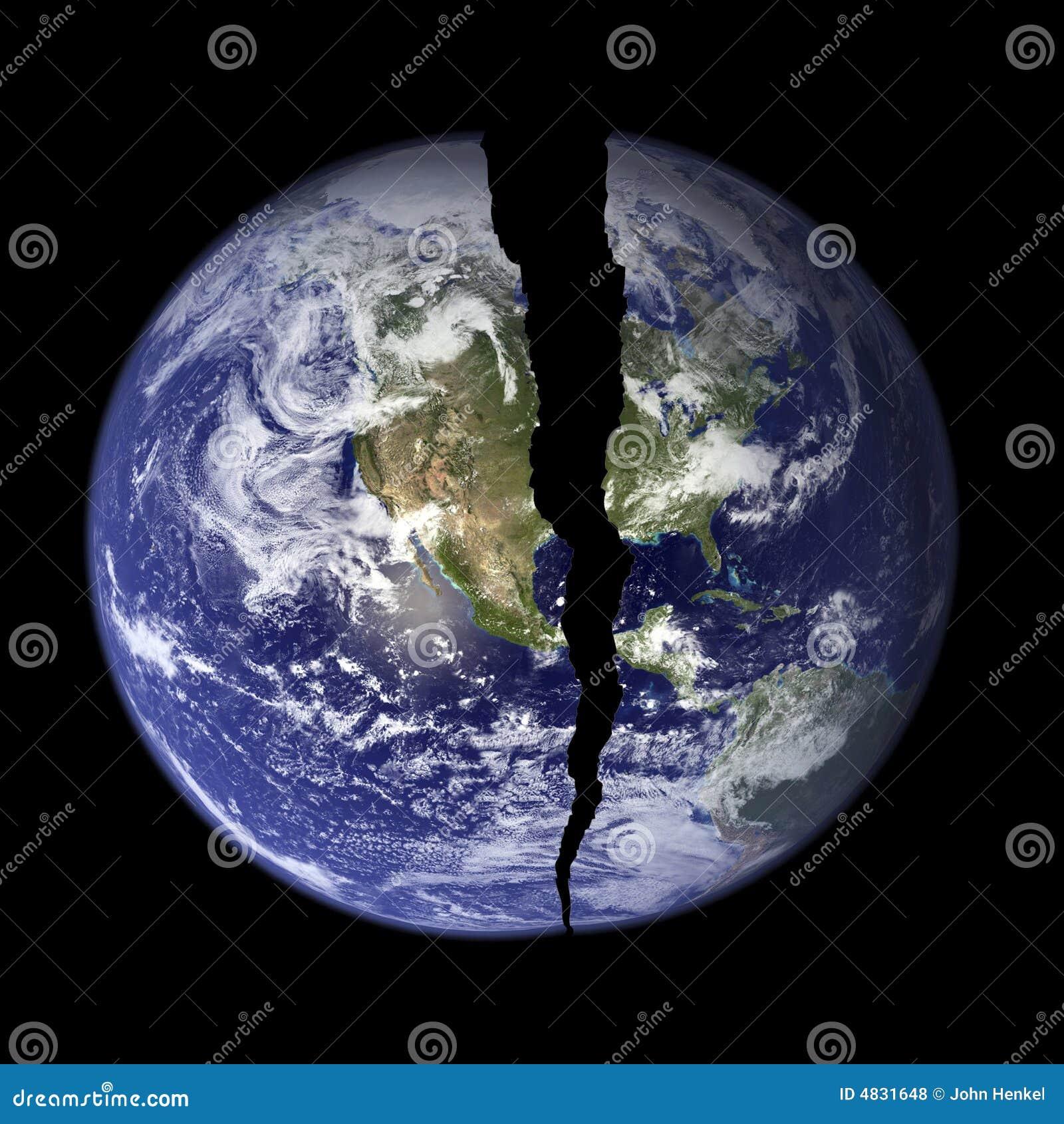 Welt mit Sprung