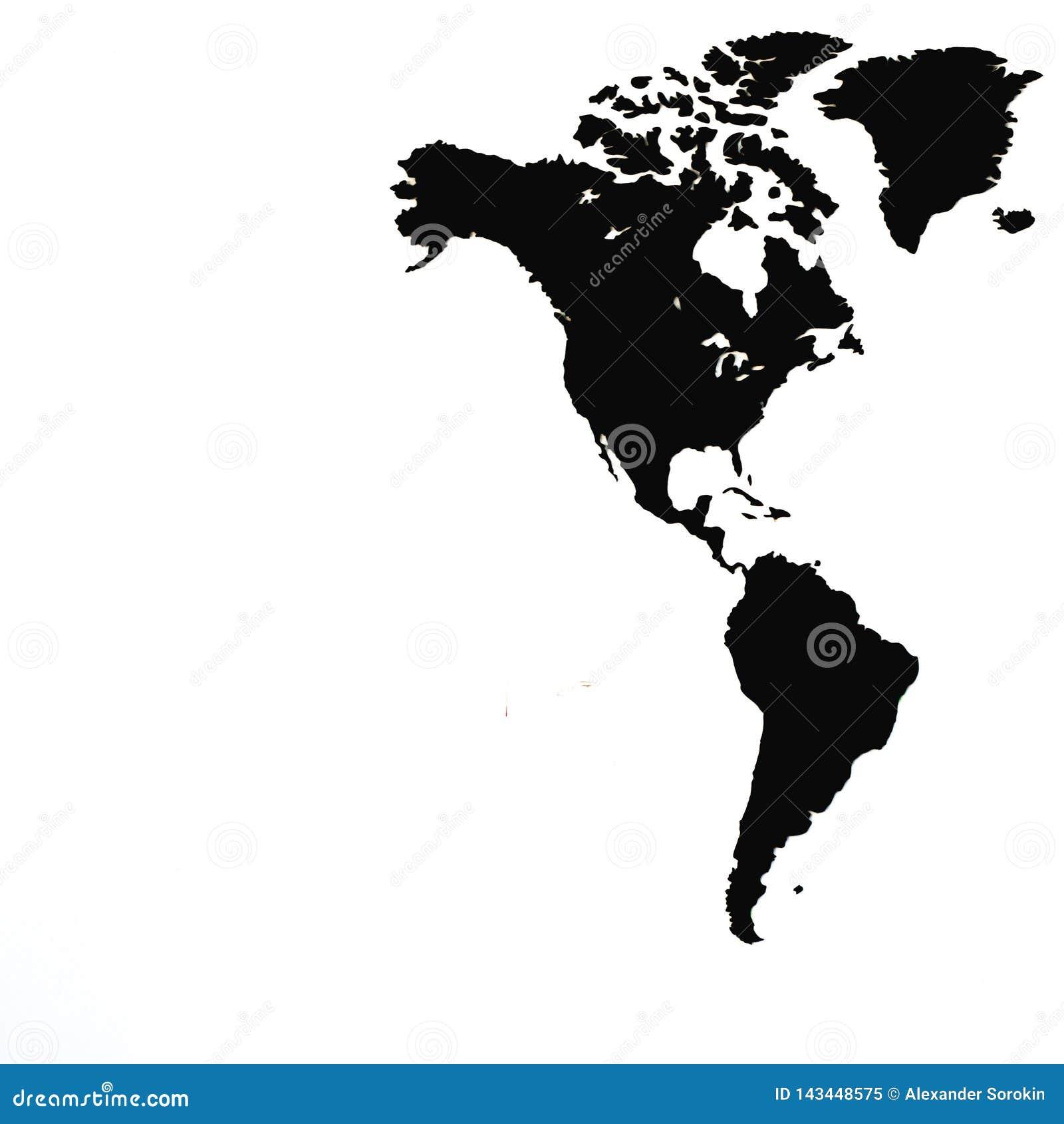 Weltkarte oder Karte der Welt