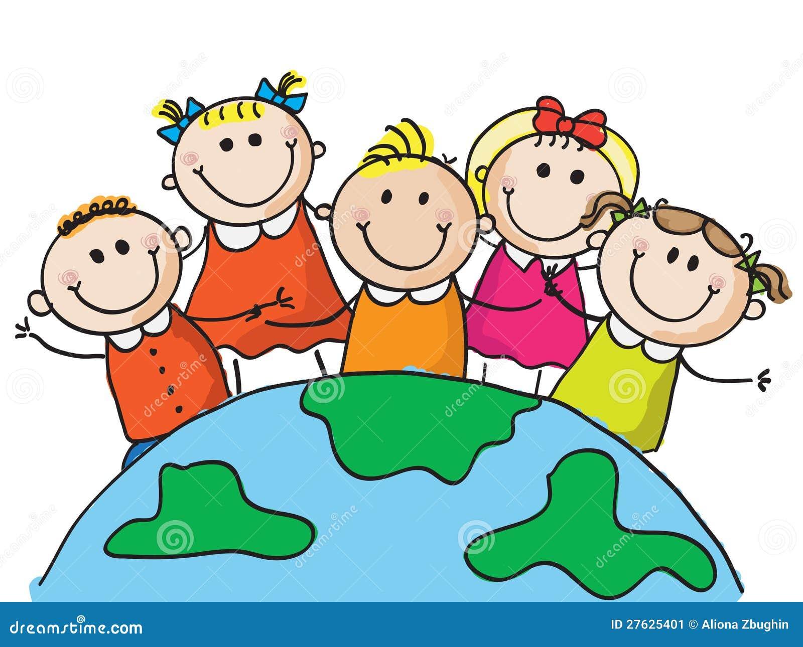 Weltkinder Vektor Abbildung. Illustration Von Draw