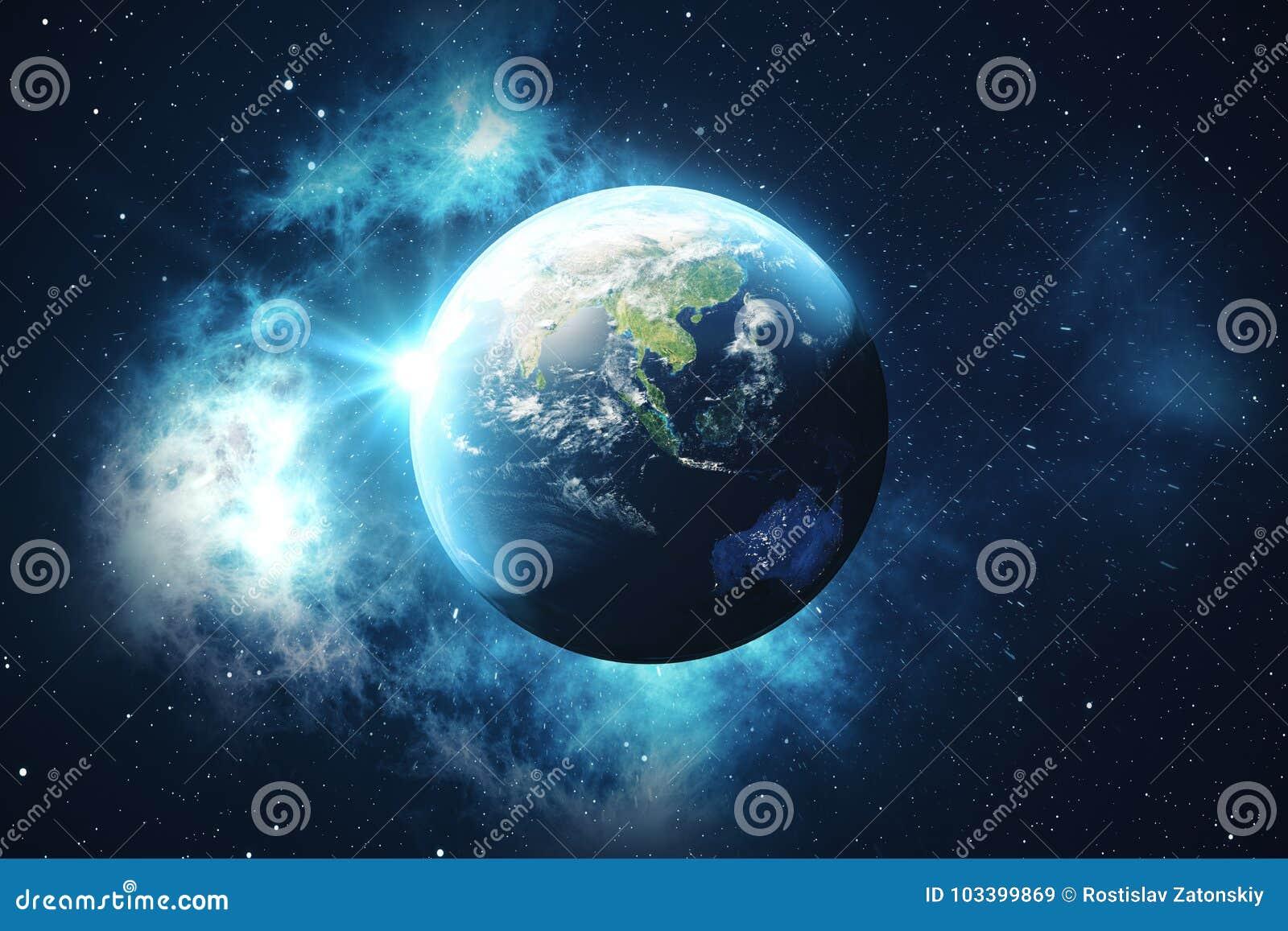 Amüsant Weltkugel 3d Beste Wahl Der Wiedergabe-3d Vom Raum Auf Einem Stern-gebiet,