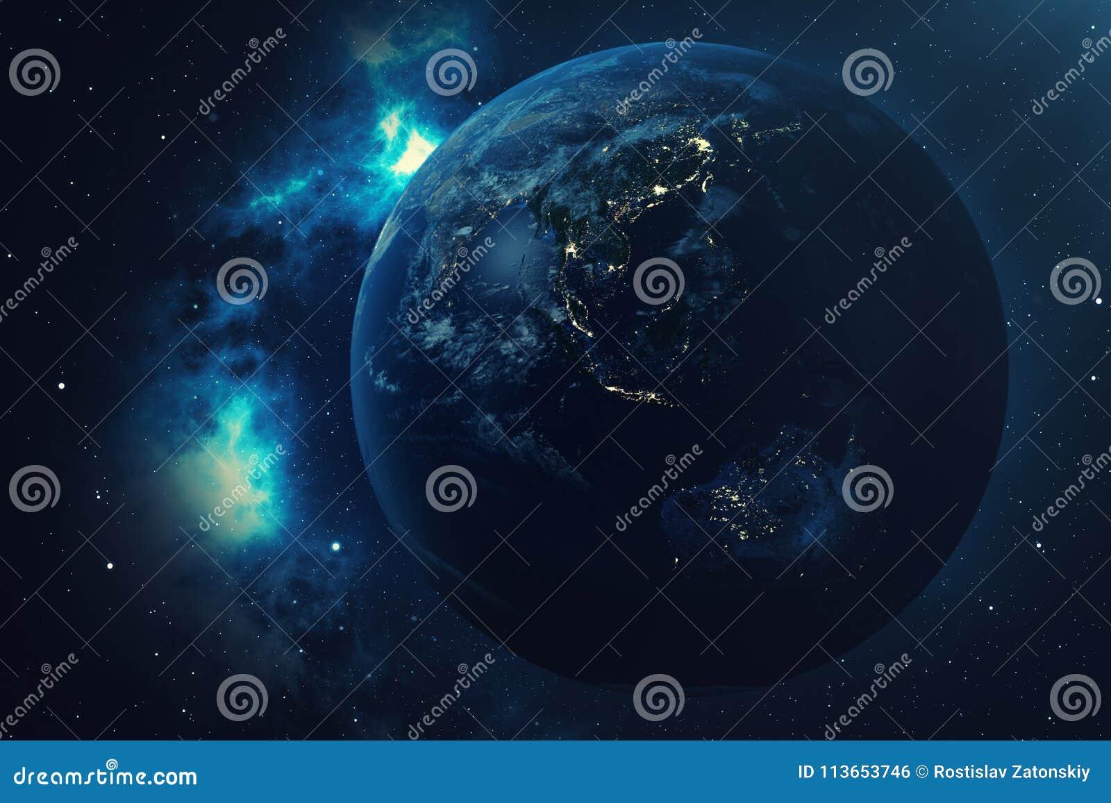 Innenarchitektur Weltkugel 3d Das Beste Von Der Wiedergabe-3d Vom Raum Auf Einem Stern-gebiet,