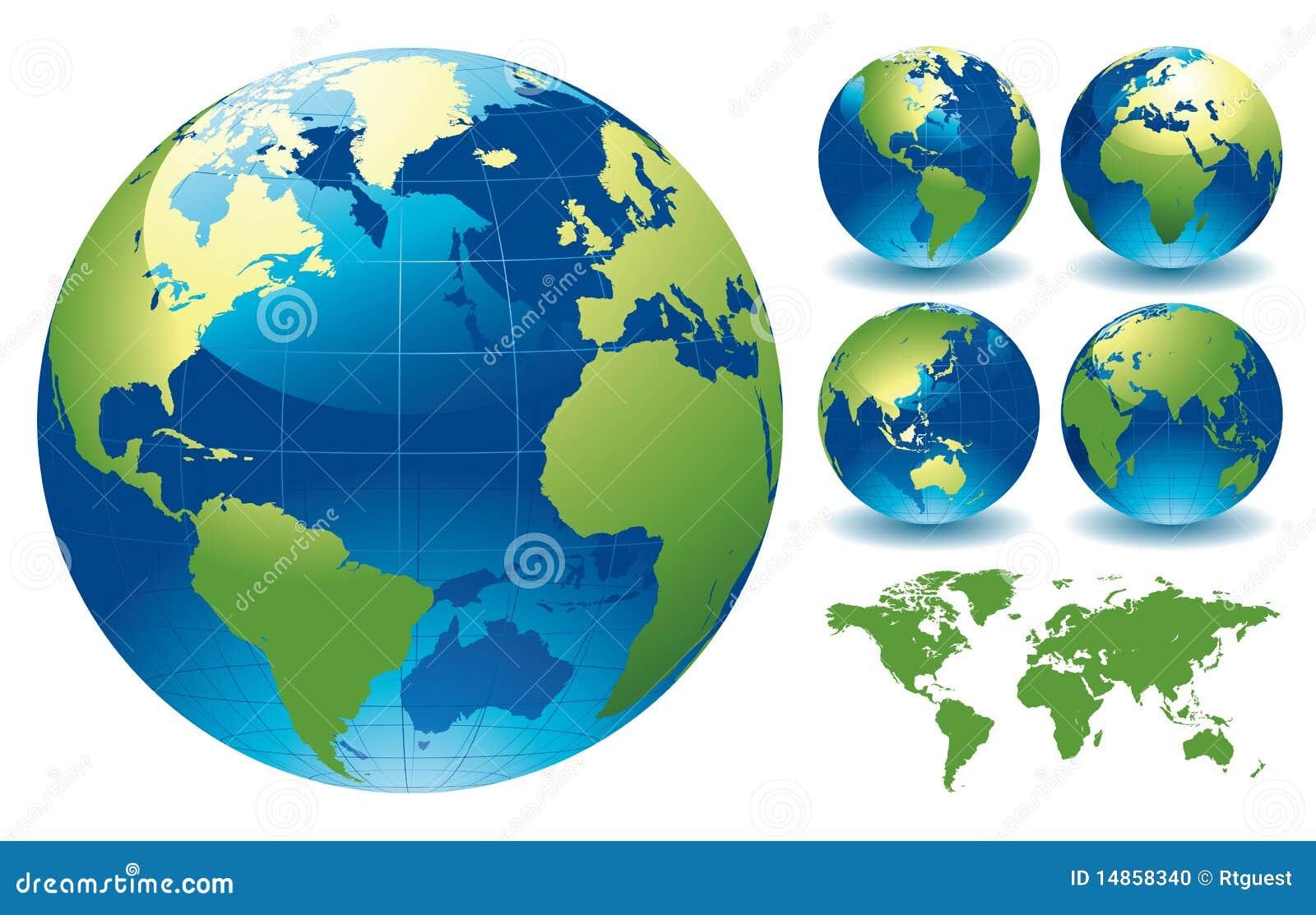 Weltkugel-Karten