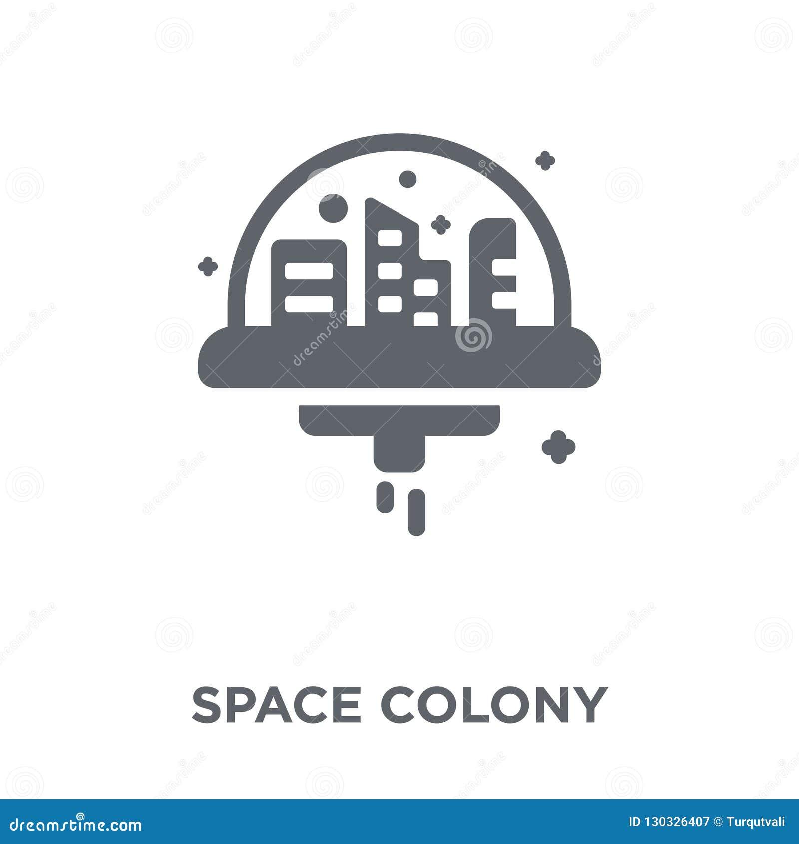 Weltraumkolonieikone von der Astronomiesammlung