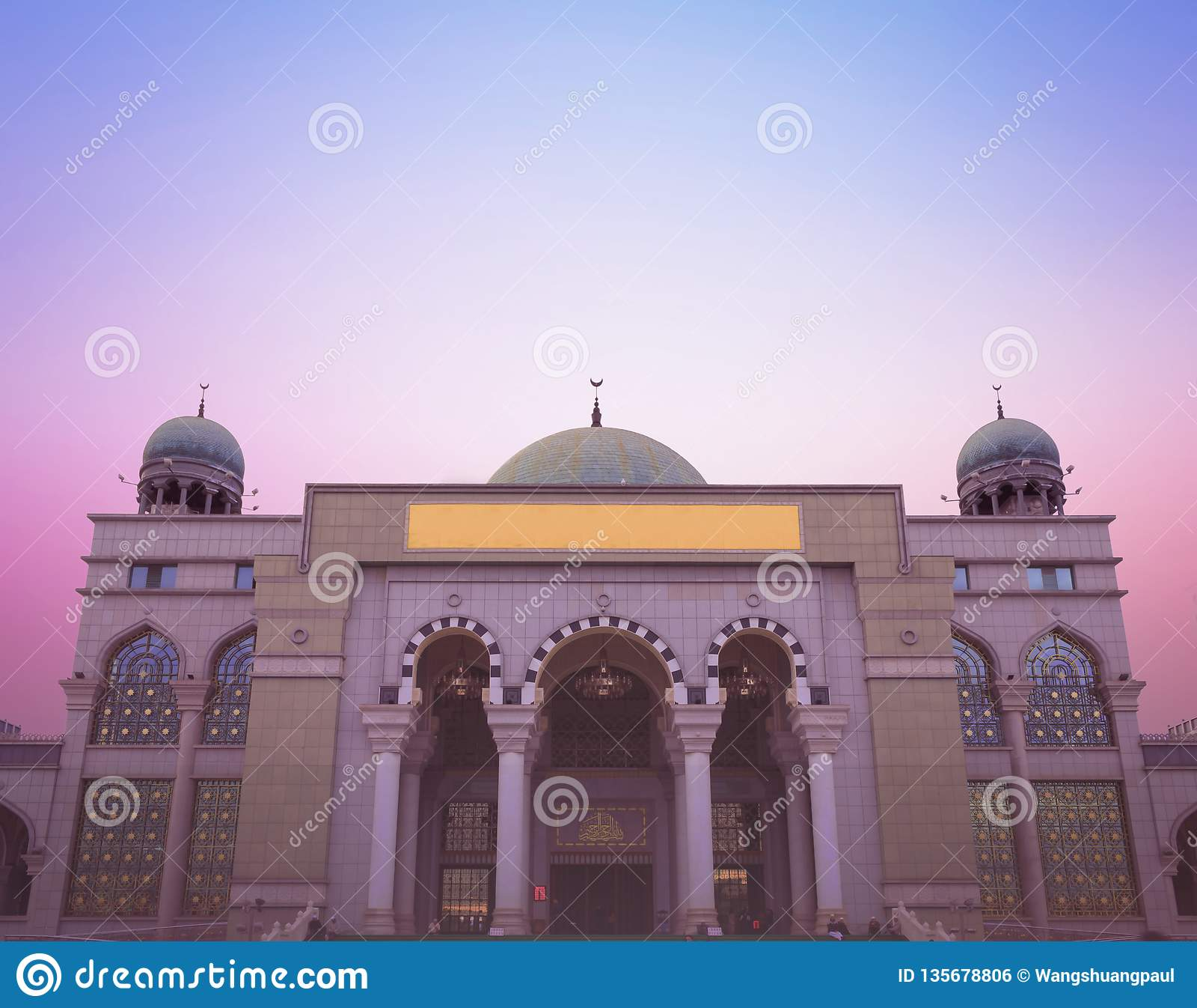 Weltreligiöses Tageskonzept: Schöne Moschee